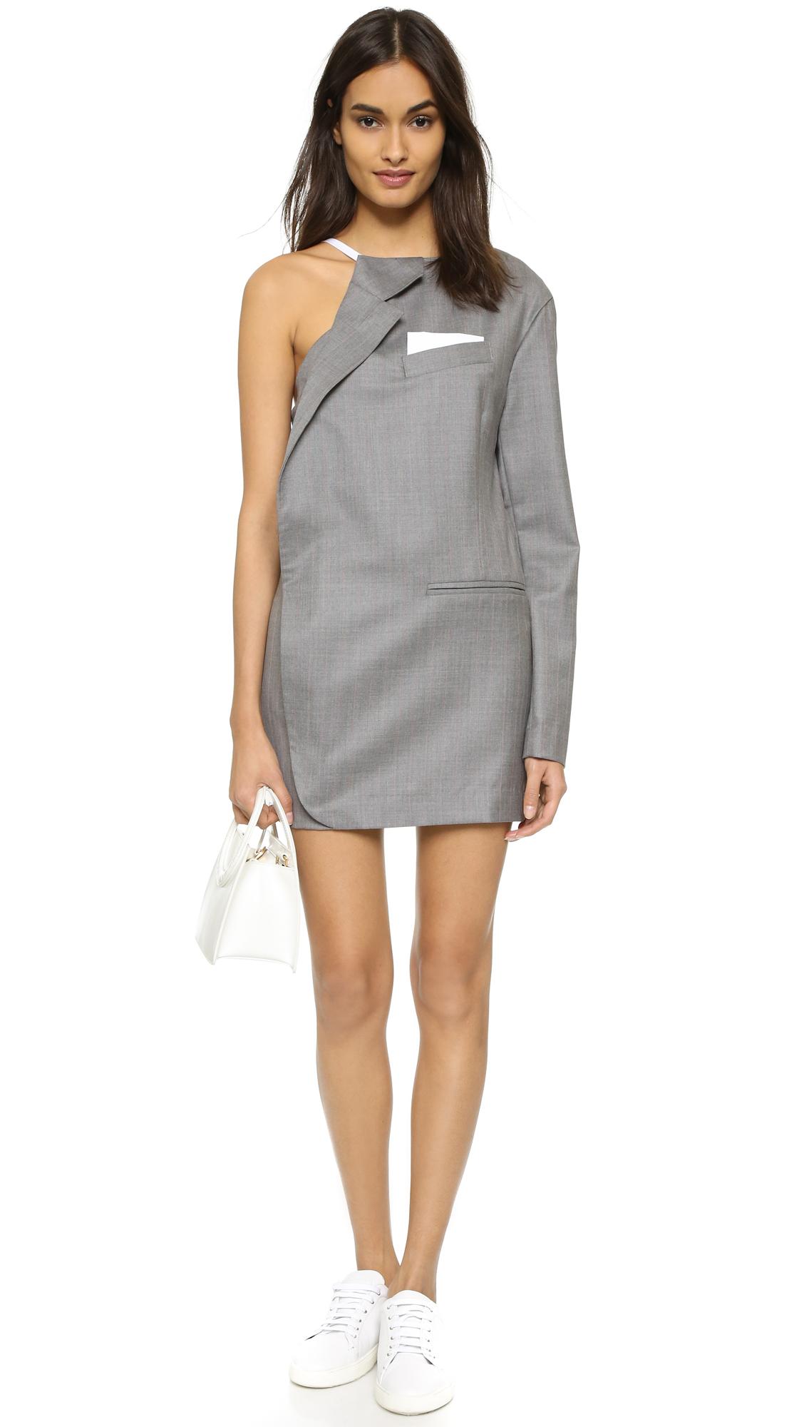 Lyst Jacquemus Half Jacket Dress In Gray