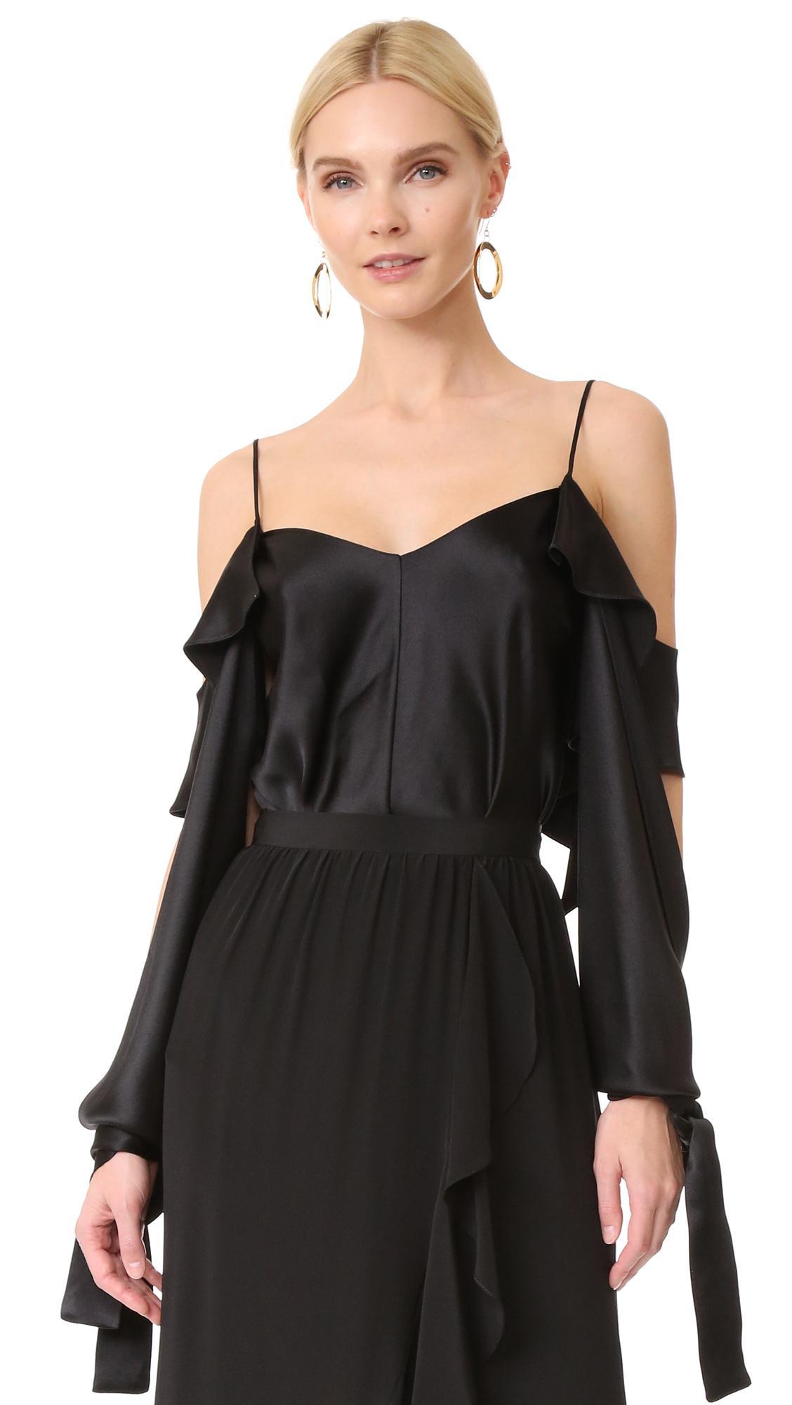 juan carlos obando amalfi camisole in black lyst. Black Bedroom Furniture Sets. Home Design Ideas