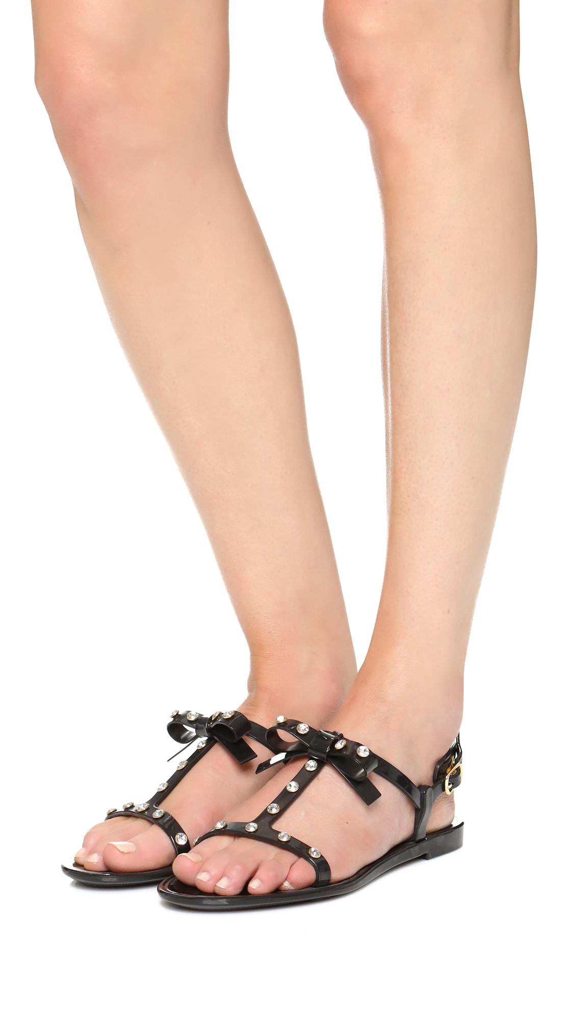 154e35789707b5 Valentino Jelly Bow Sandals Black.Valentino Rockstud Jelly Sandals ...