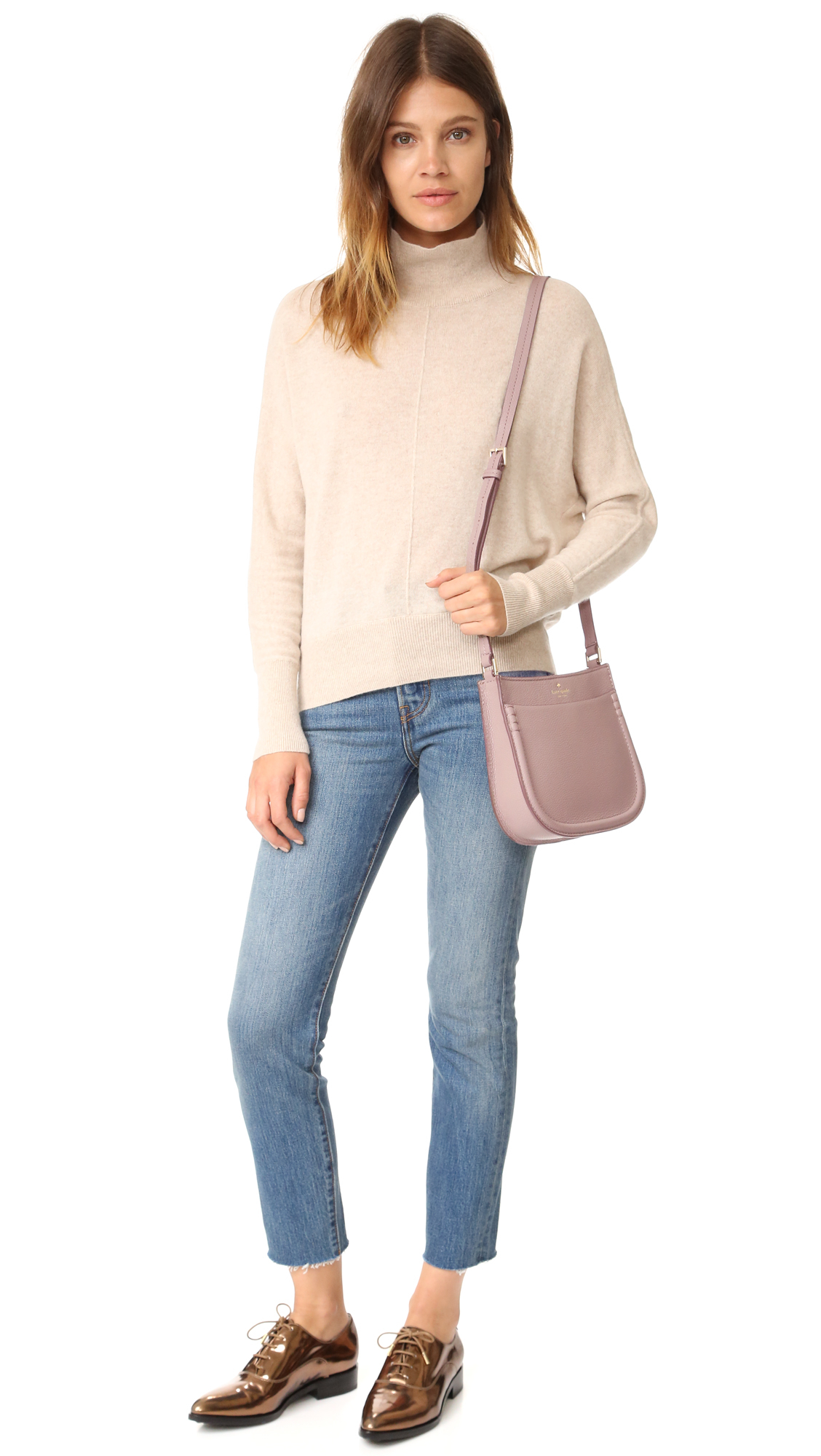 Kate Spade Leather Small Hemsley Cross Body Bag in Blue