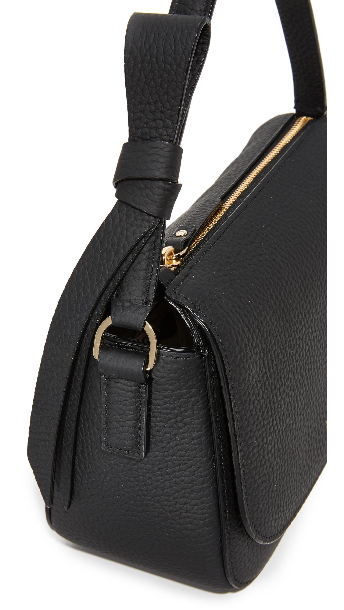 Kate Spade Leather Alfie Crossbody Bag in Black