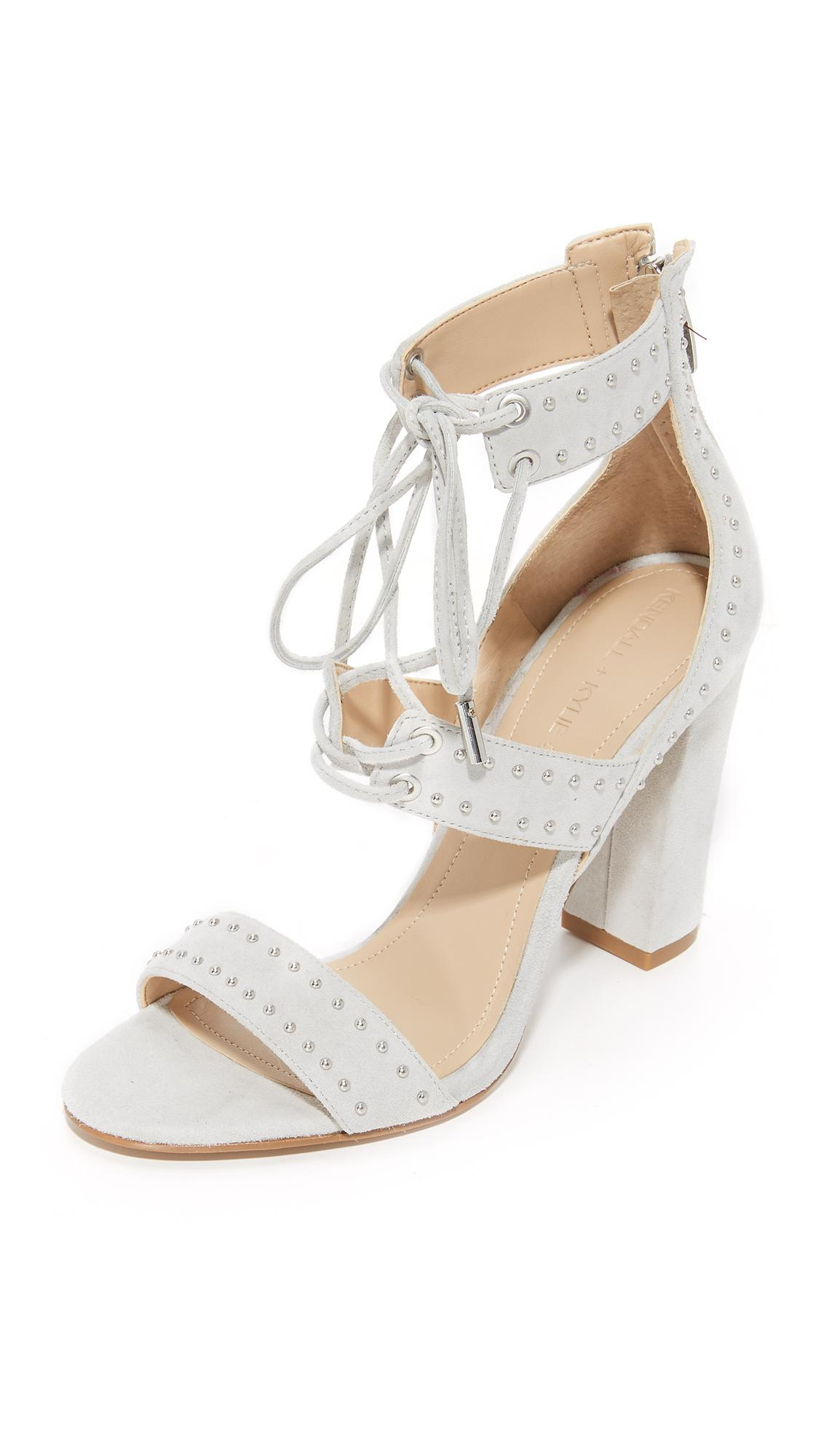 Kendall Kylie Dawn Sandals In Gray Lyst
