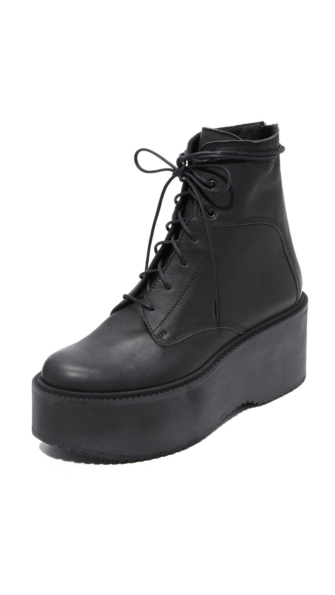 Ld Tuttle The Plunge Platform Combat Boots In Black Lyst