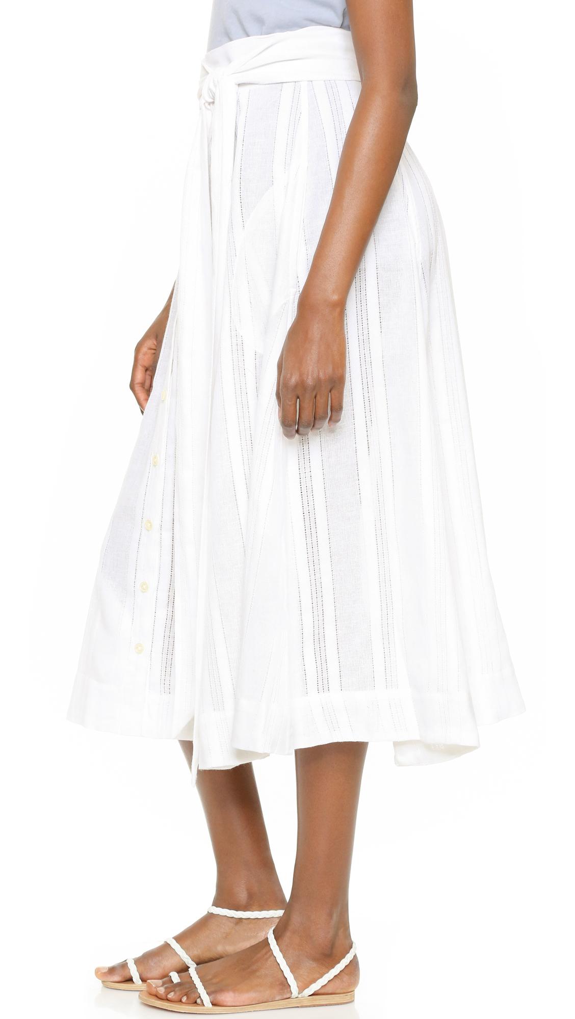 Lyst Lisa Marie Fernandez Beach Skirt In White