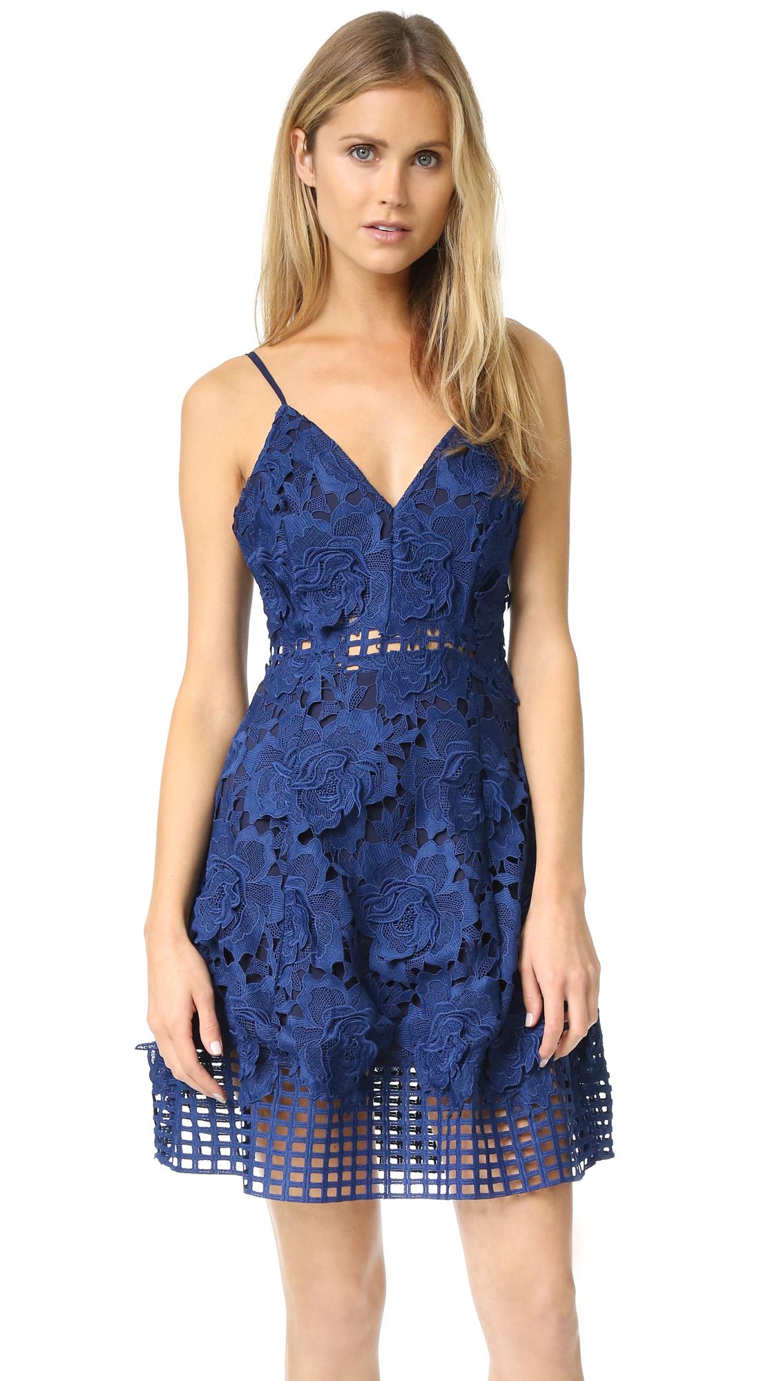 Lovers Friends Lace Bellini Dress In Navy Blue Lyst