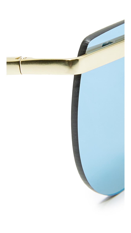 Le Specs Mafia Moderne Sunglasses in Blue