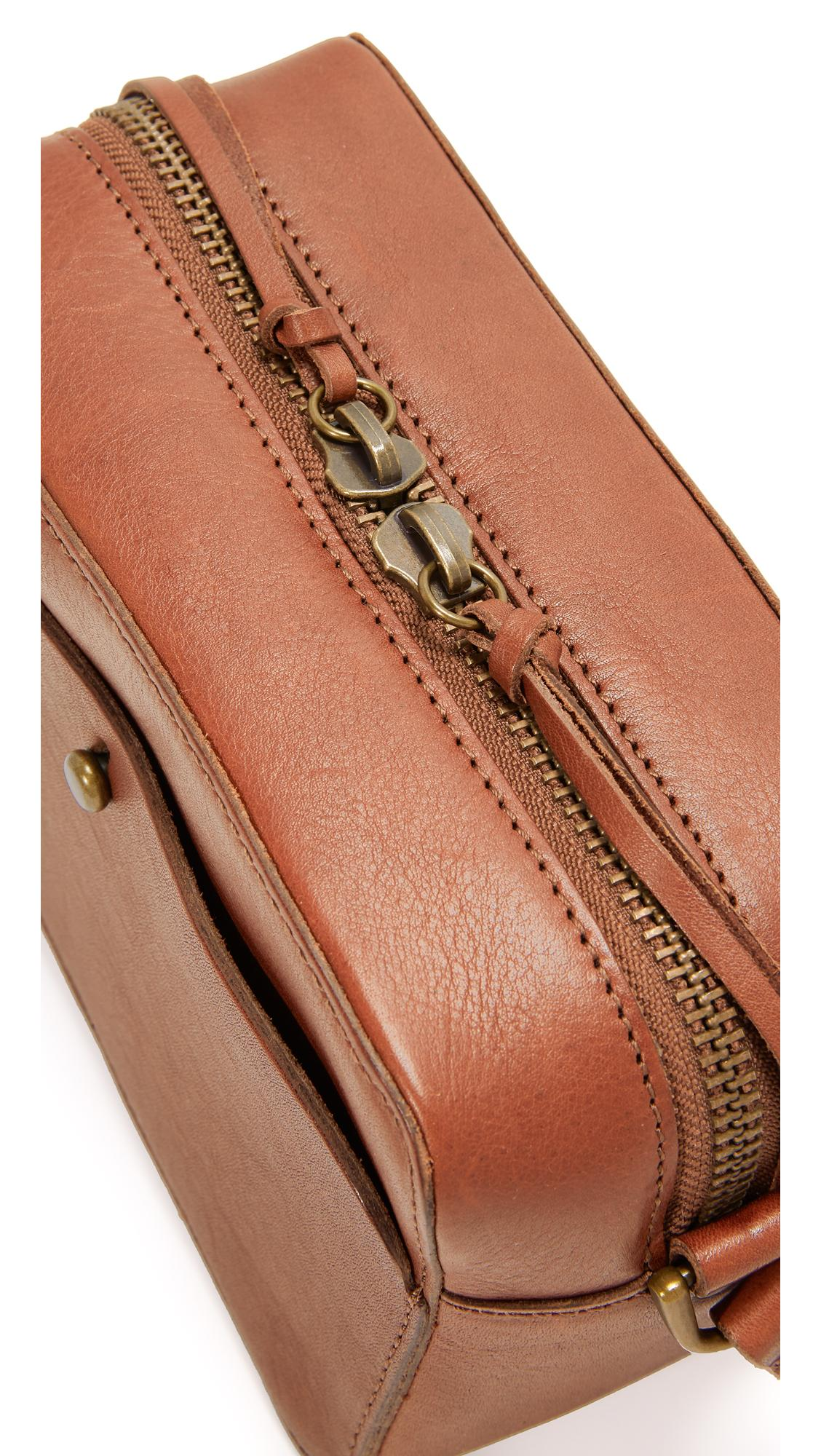 Madewell Leather Camera Cross Body Bag in Brown