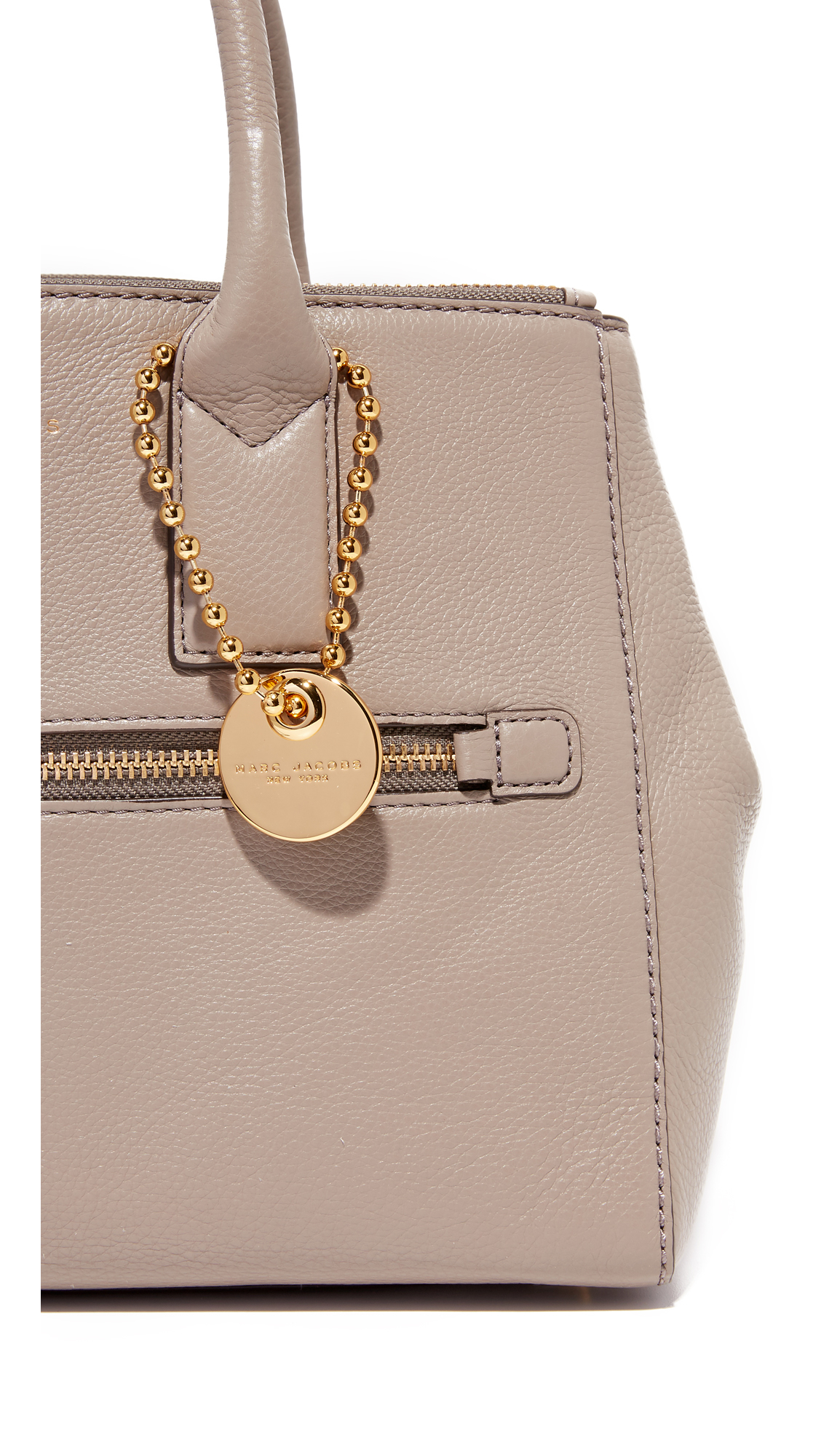 Marc Jacobs Leather Recruit East / West Tote in Mink (Natural)