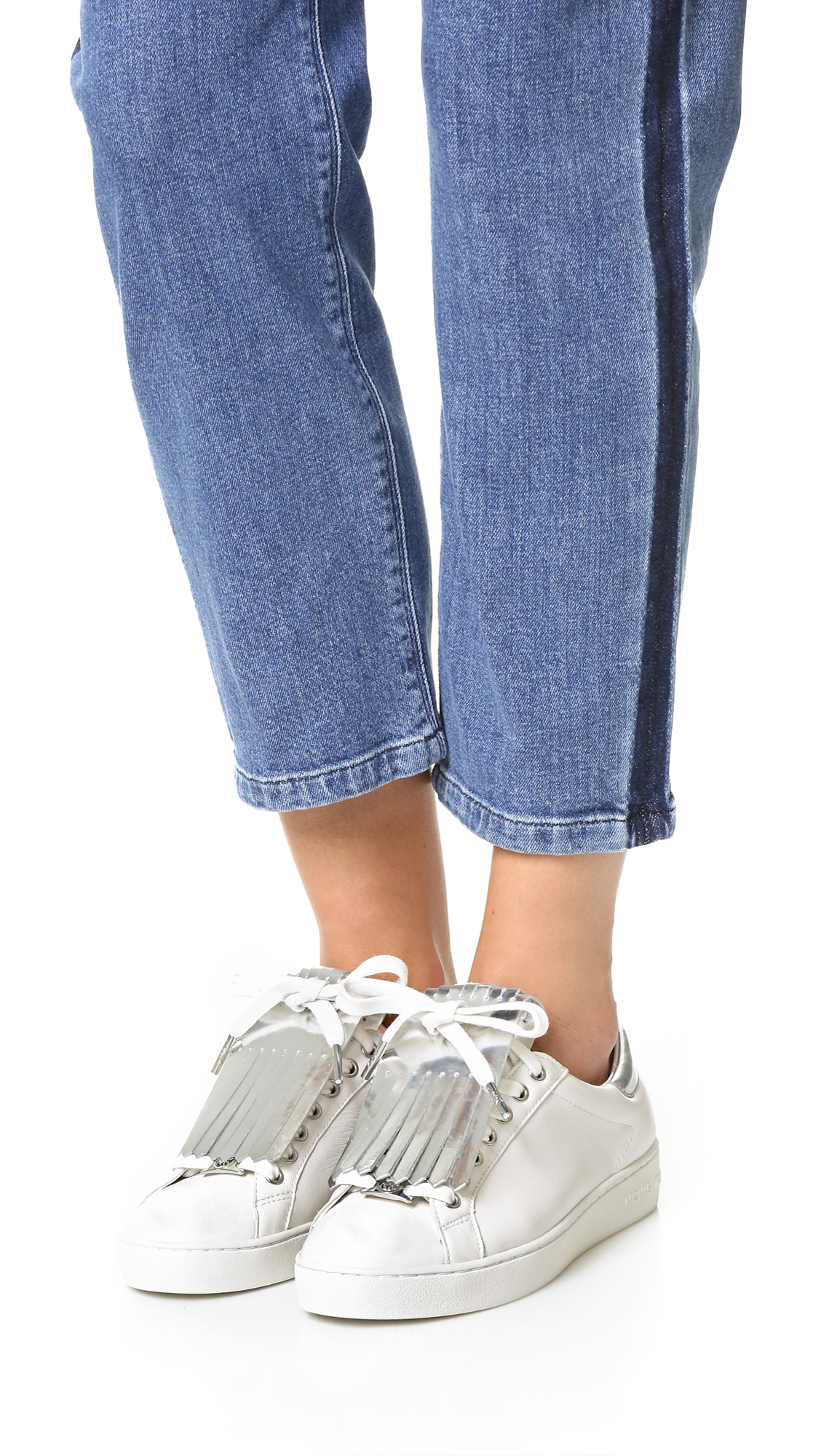 bcd530099e38 Lyst - MICHAEL Michael Kors Keaton Kiltie Sneakers