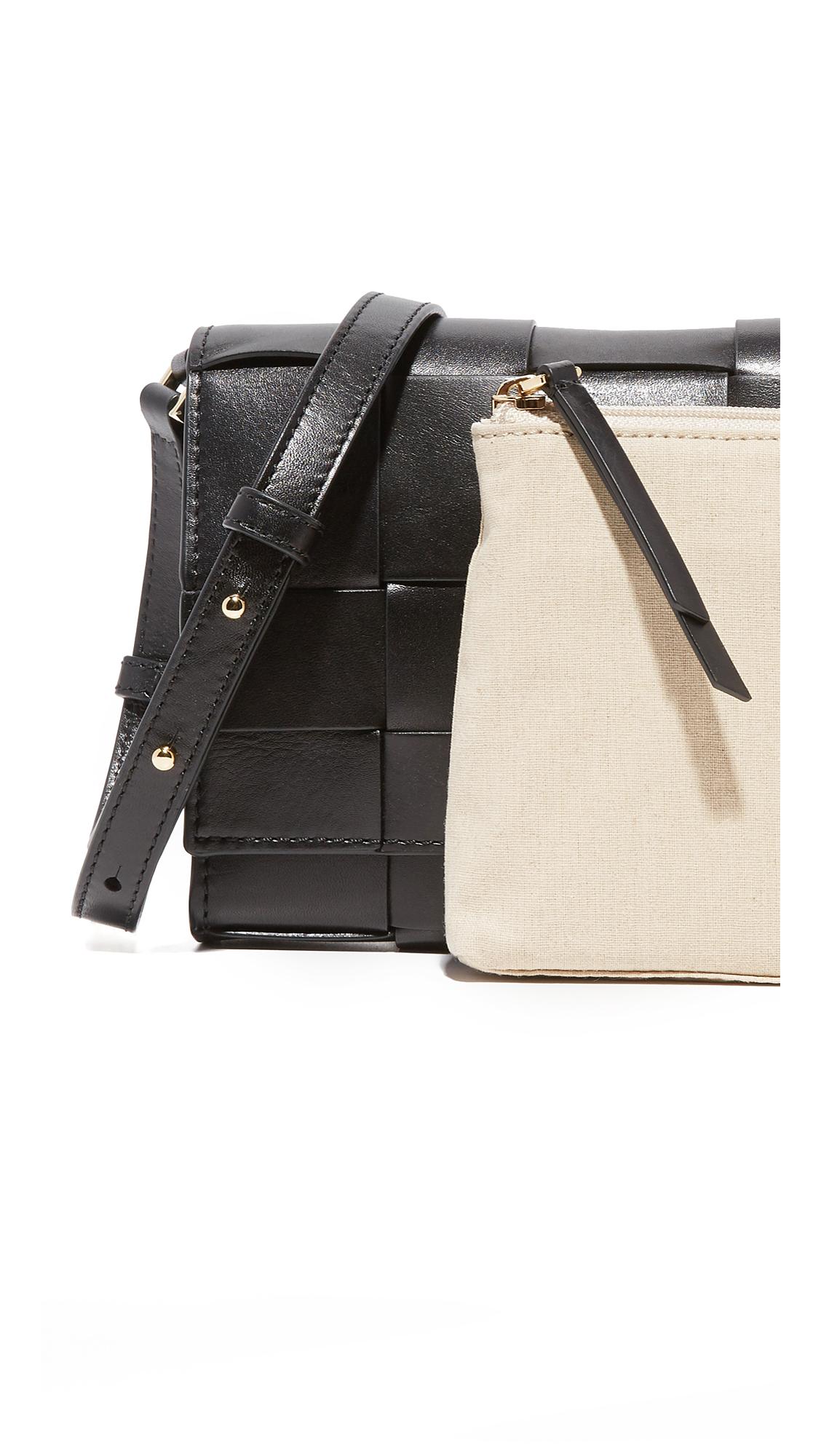 MICHAEL Michael Kors Leather Vivian Cross Body Bag in Black