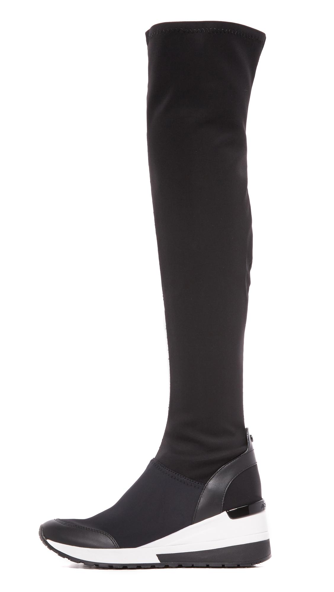 MICHAEL Michael Kors Neoprene Ace Sneaker Boots in Black