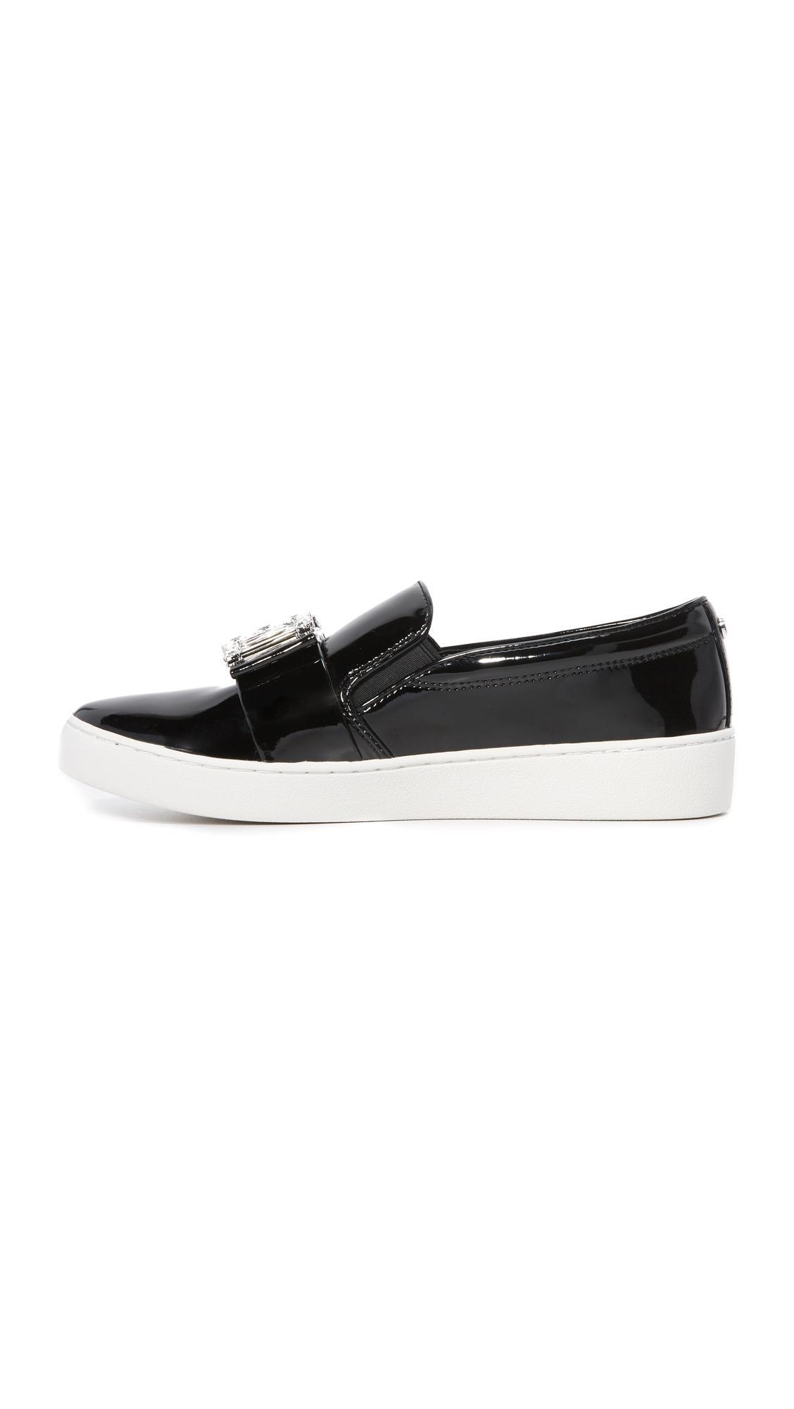 MICHAEL Michael Kors Michelle Slip On Sneakers in Black