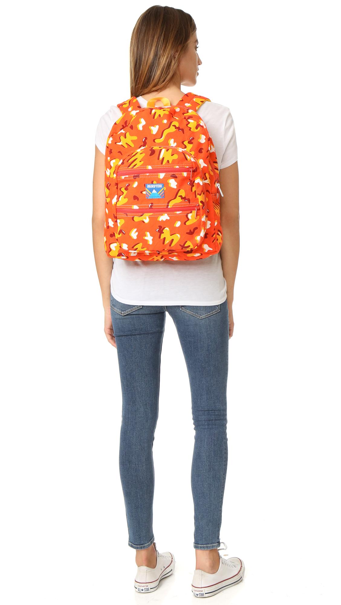 Mokuyobi Canvas Big Pocket Backpack in Blue