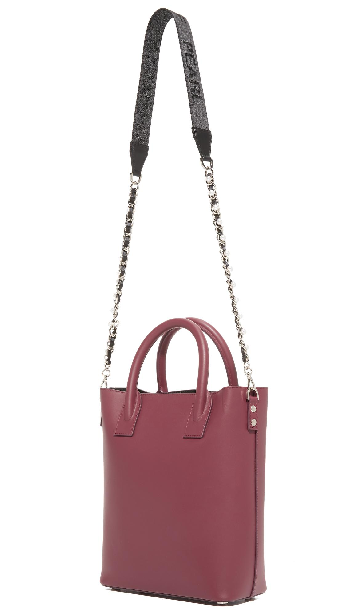 Mother Of Pearl Leather Hoxton Mini Tote