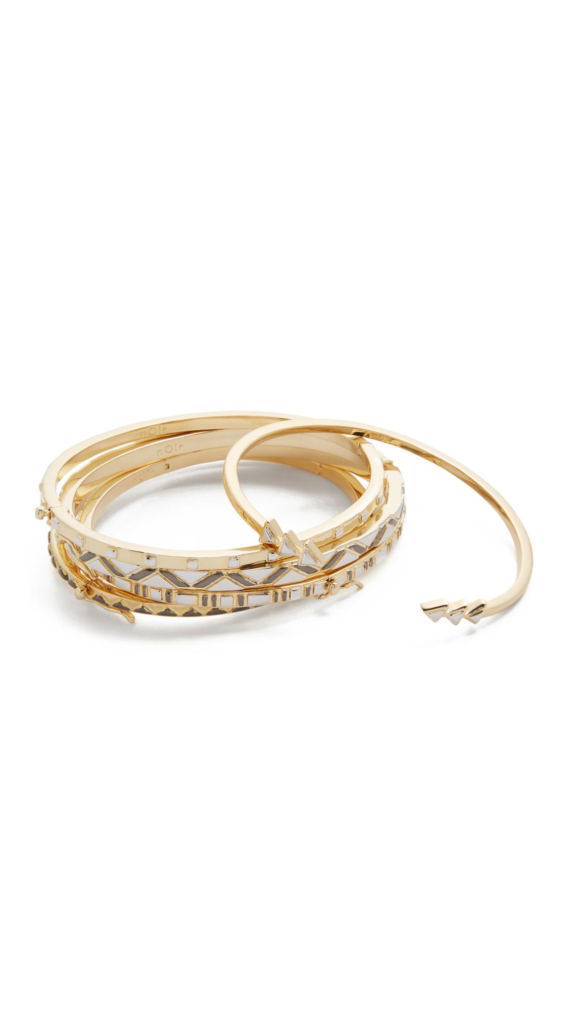 Noir Jewelry | Multicolor Stack Bracelet Set | Lyst