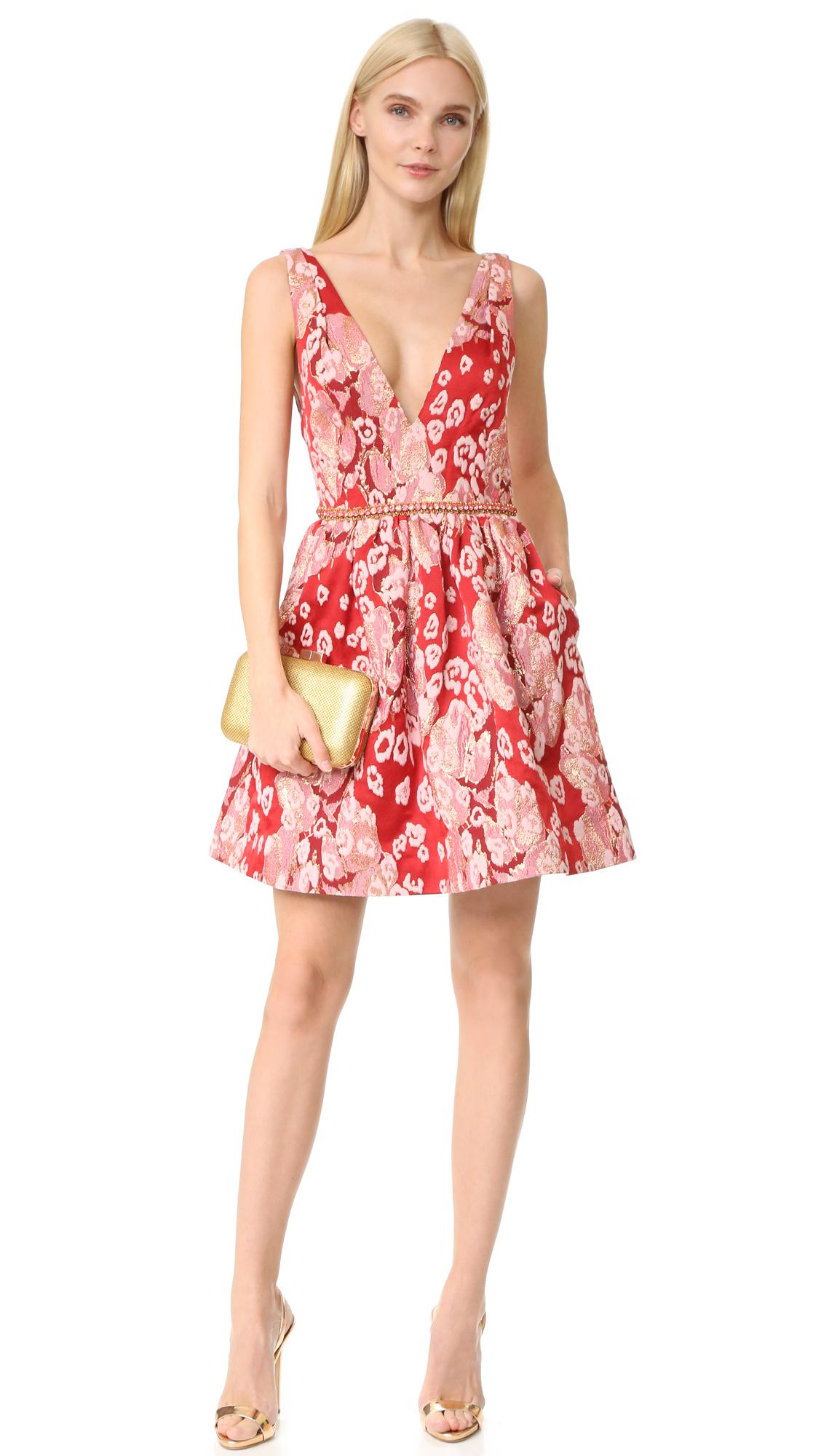 lyst notte by marchesa sleeveless leopard cocktail dress