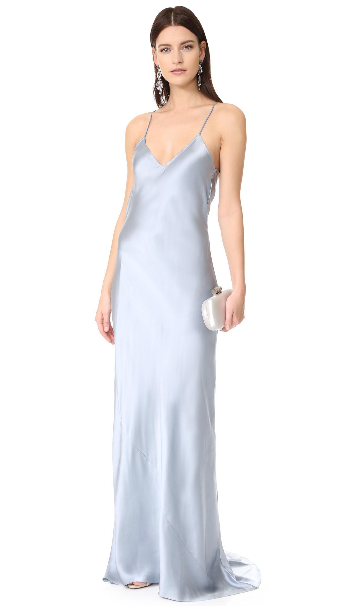 olivia von halle perminova topaz gown in blue lyst. Black Bedroom Furniture Sets. Home Design Ideas
