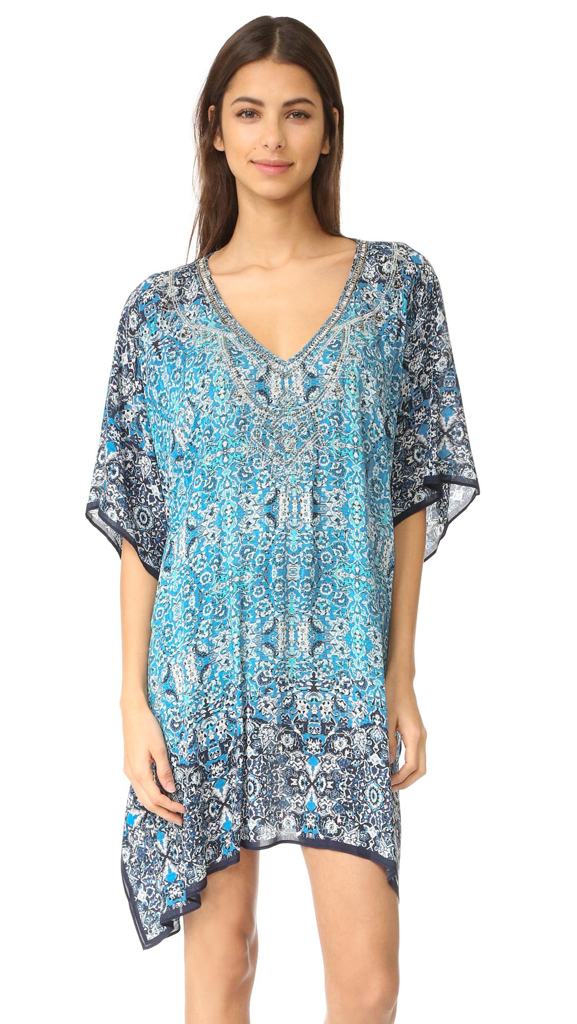 Parker Beach Playa Cover Up in Blue | Lyst