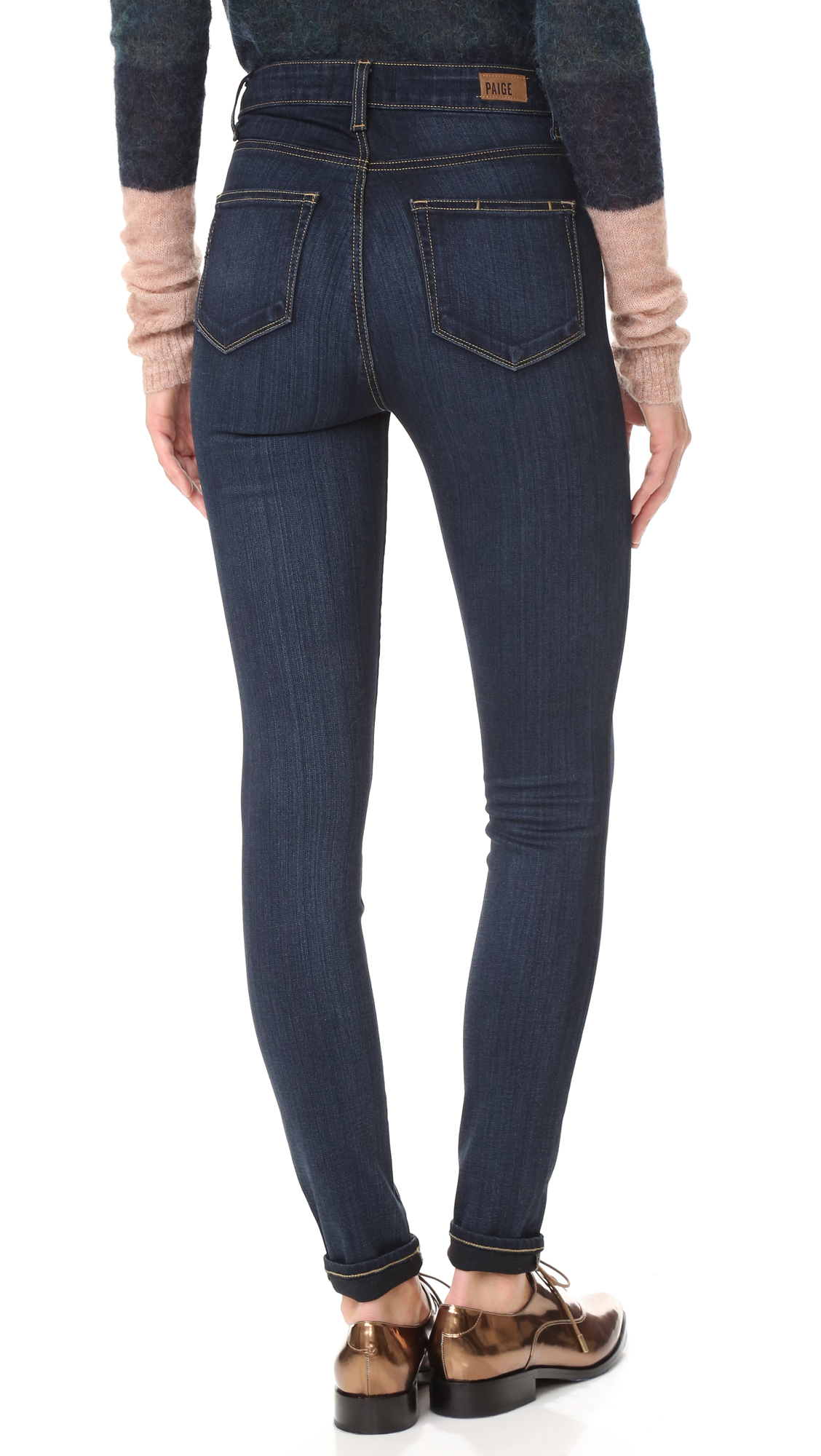 PAIGE Cotton Margot Ultra Skinny in Blue
