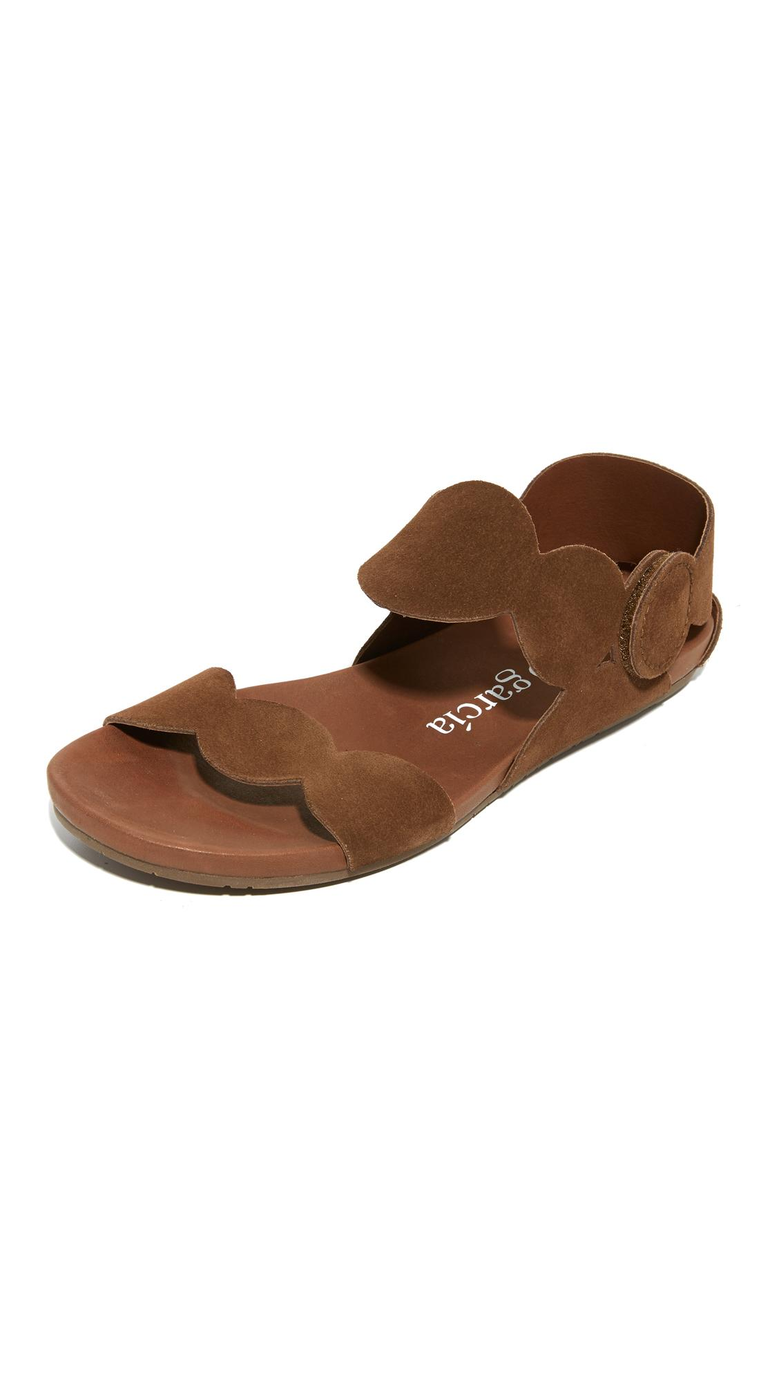 Pedro Garcia Jeanne Flat Sandals In Brown Lyst
