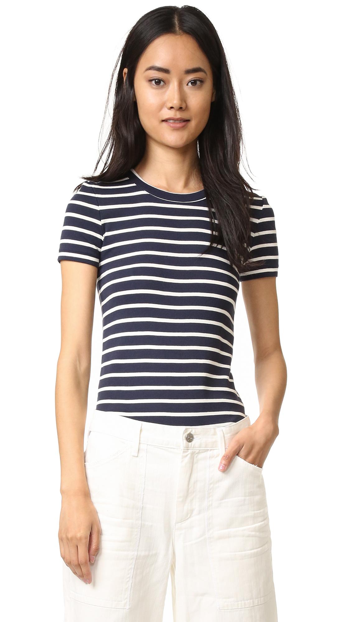 Petit bateau 1x1 iconic striped tee in multicolour lyst for Petit bateau striped shirt