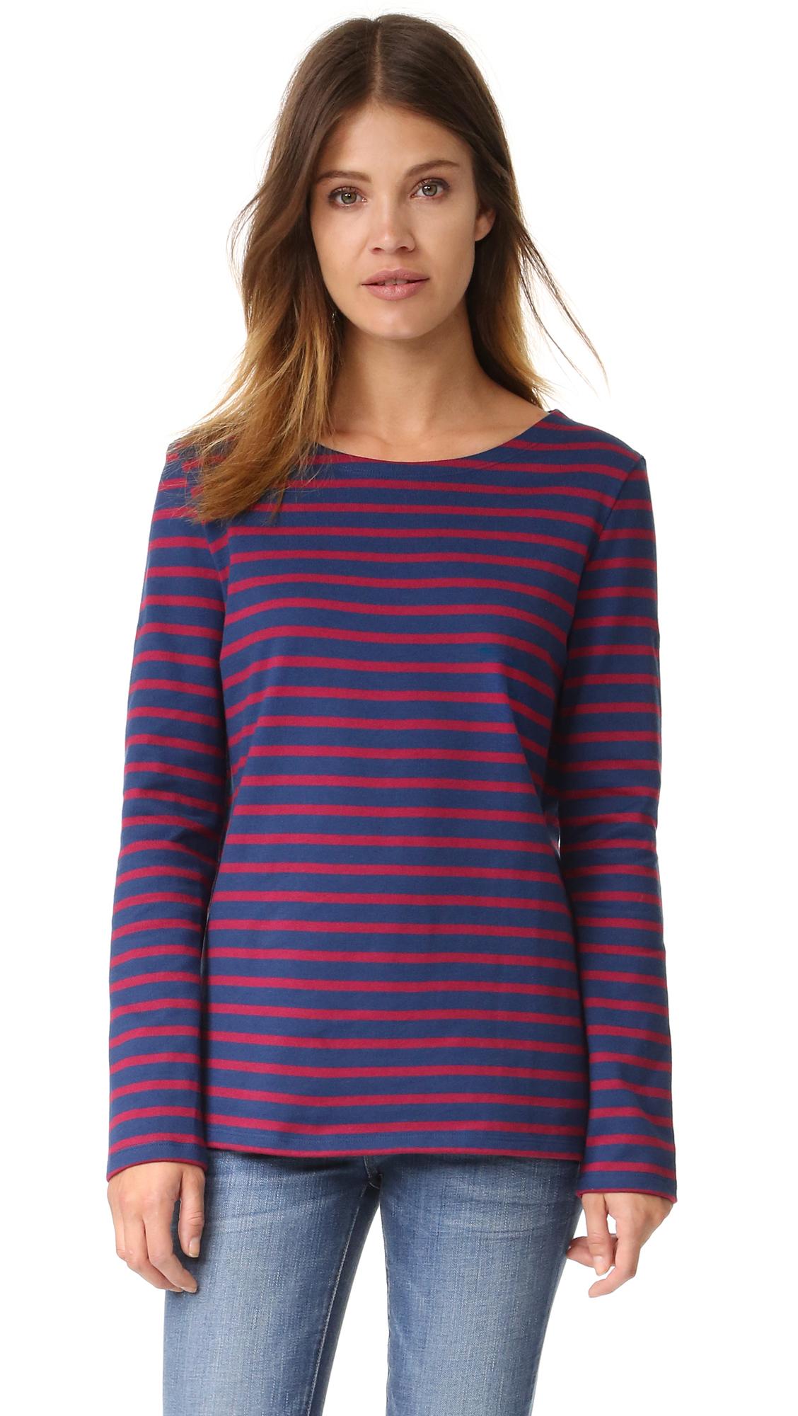 Petit bateau hannah horizontal stripe tee lyst for Petit bateau striped shirt