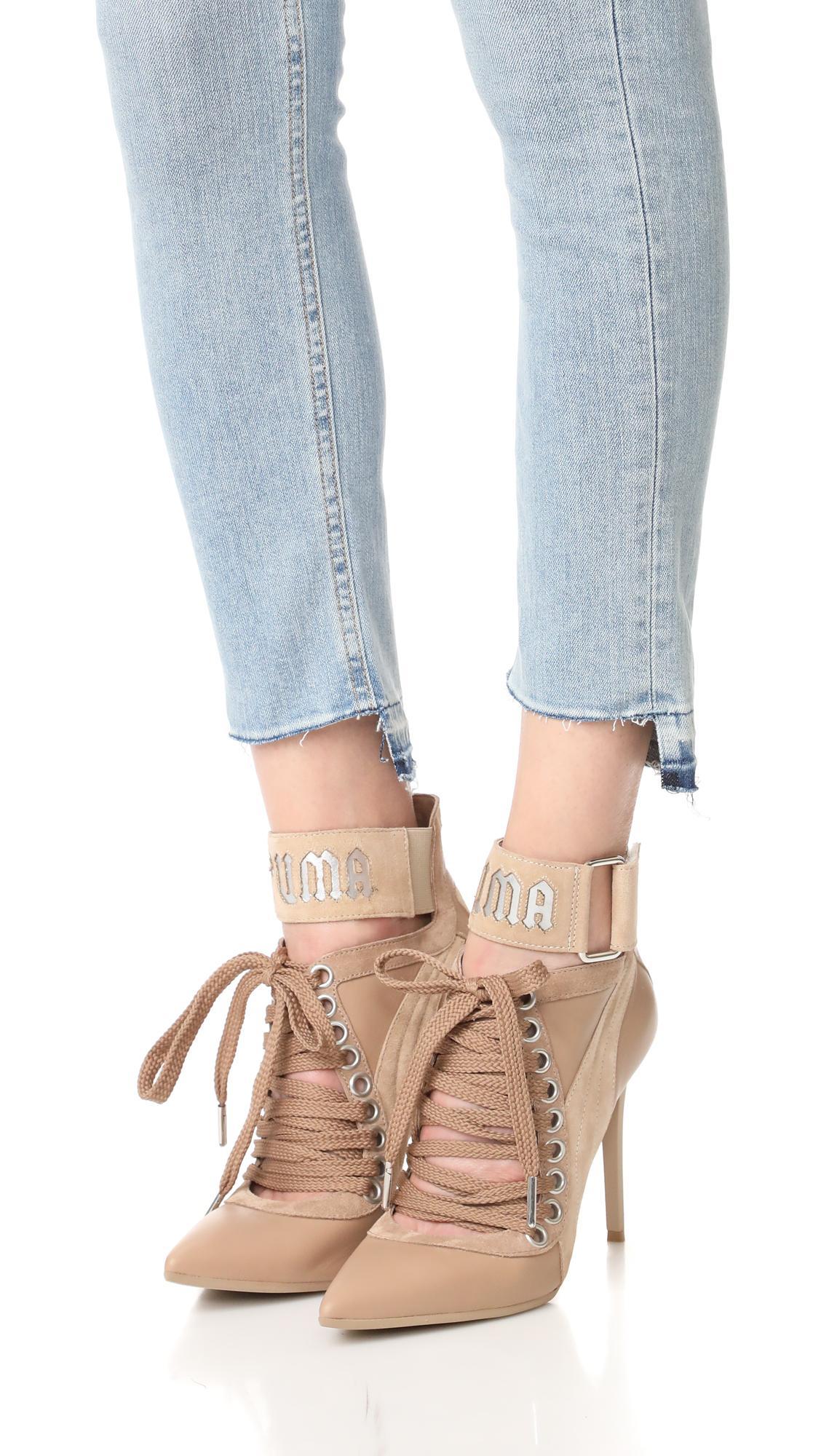 online store 70e77 e88c9 PUMA Natural Fenty X Lace Up Heels