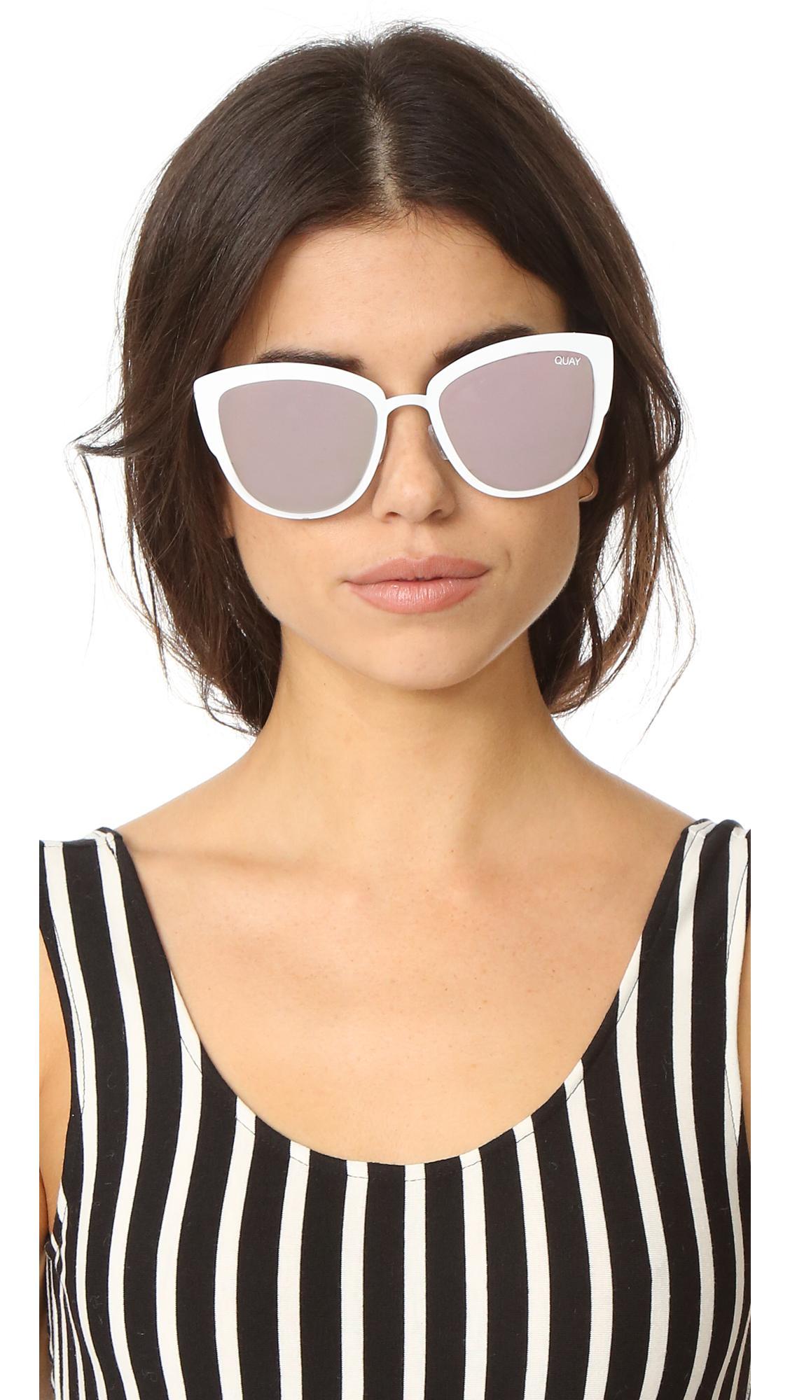 223873eeb1 Quay Supergirl Sunglasses in White