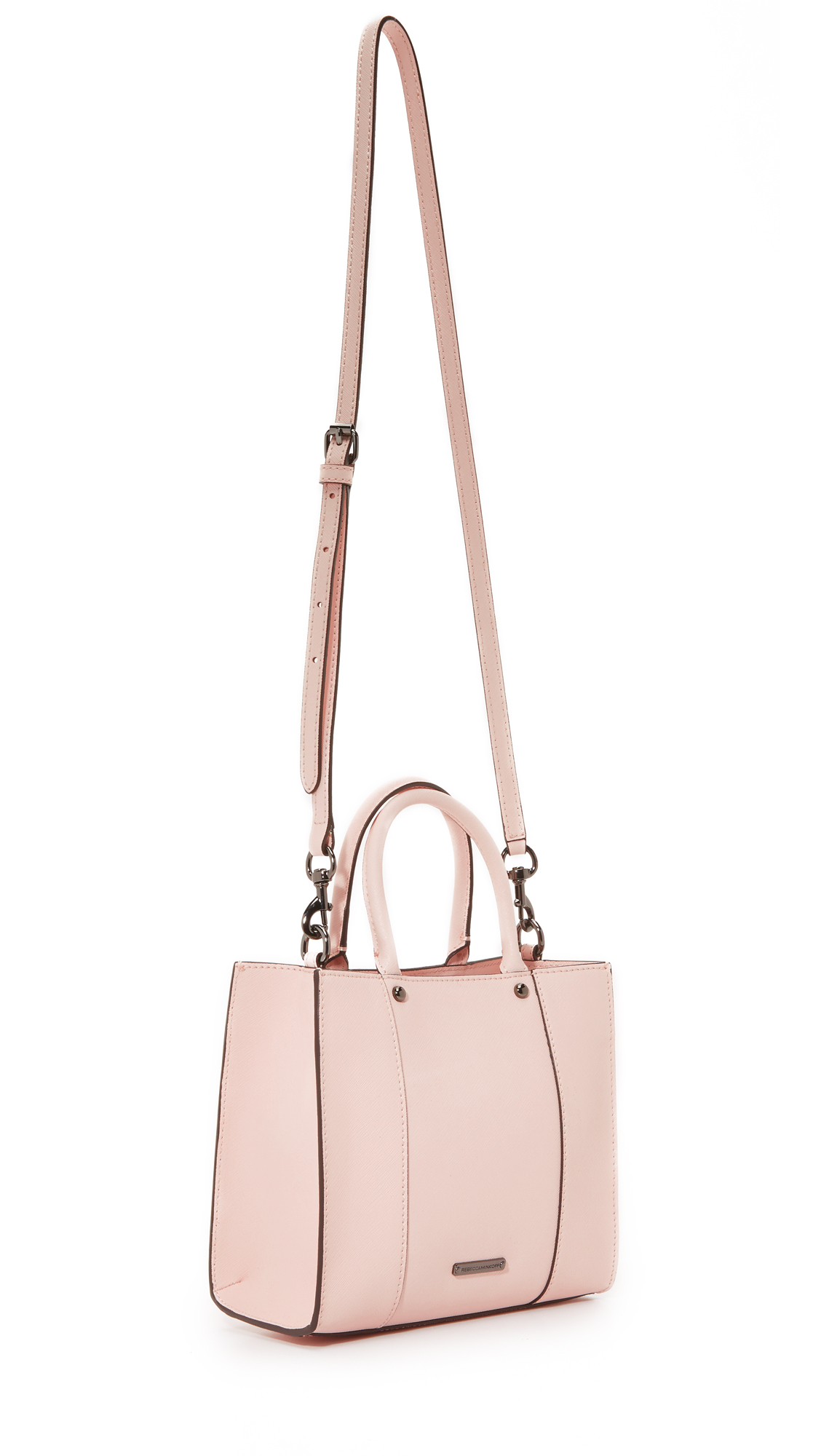 Rebecca Minkoff Leather Mini Mab Tote in Pale Blush (Pink)