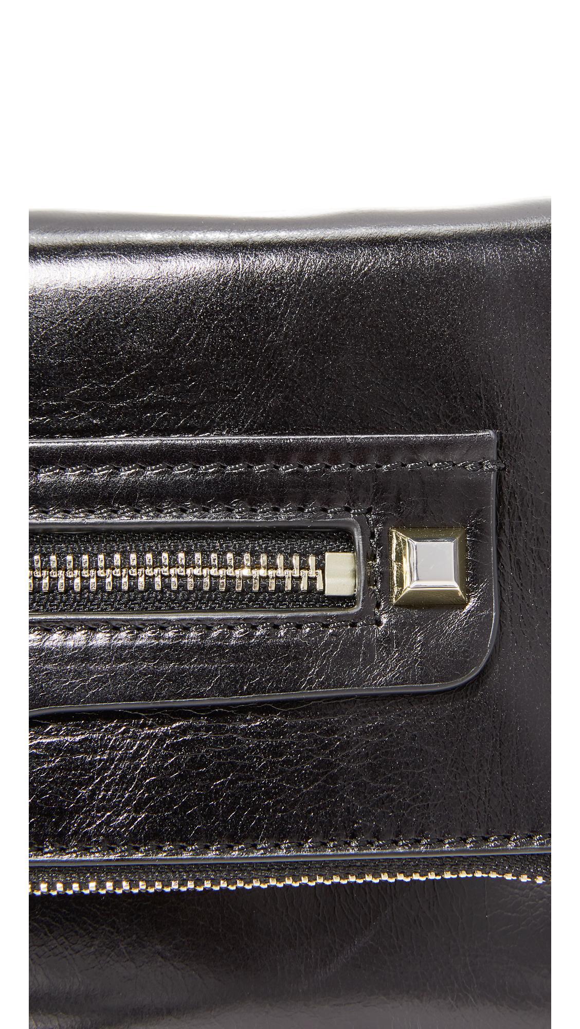 Rebecca Minkoff Leather Small Regan Cross Body Clutch in Black