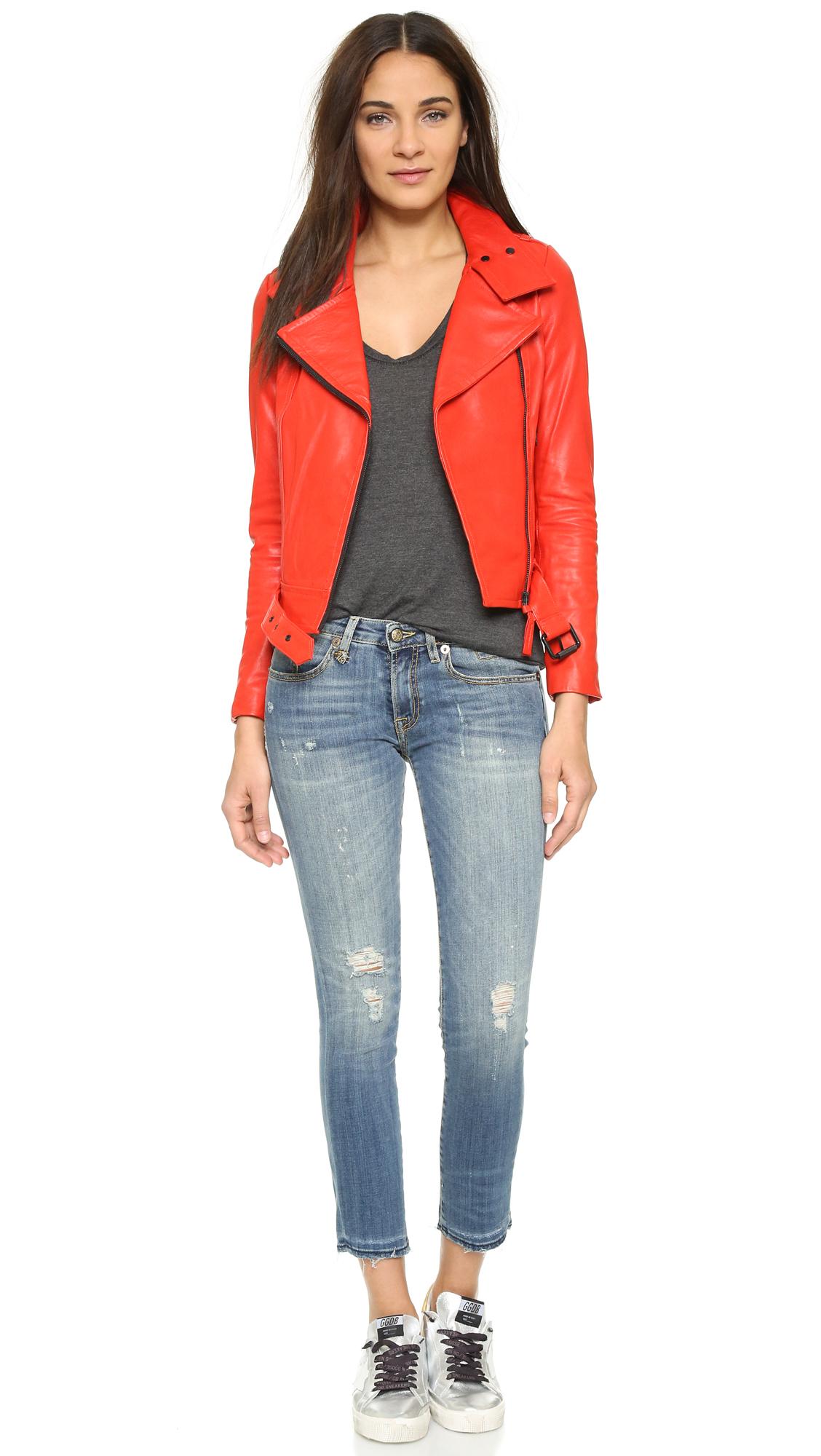 R13 Denim The Kate Skinny Jeans in Blue