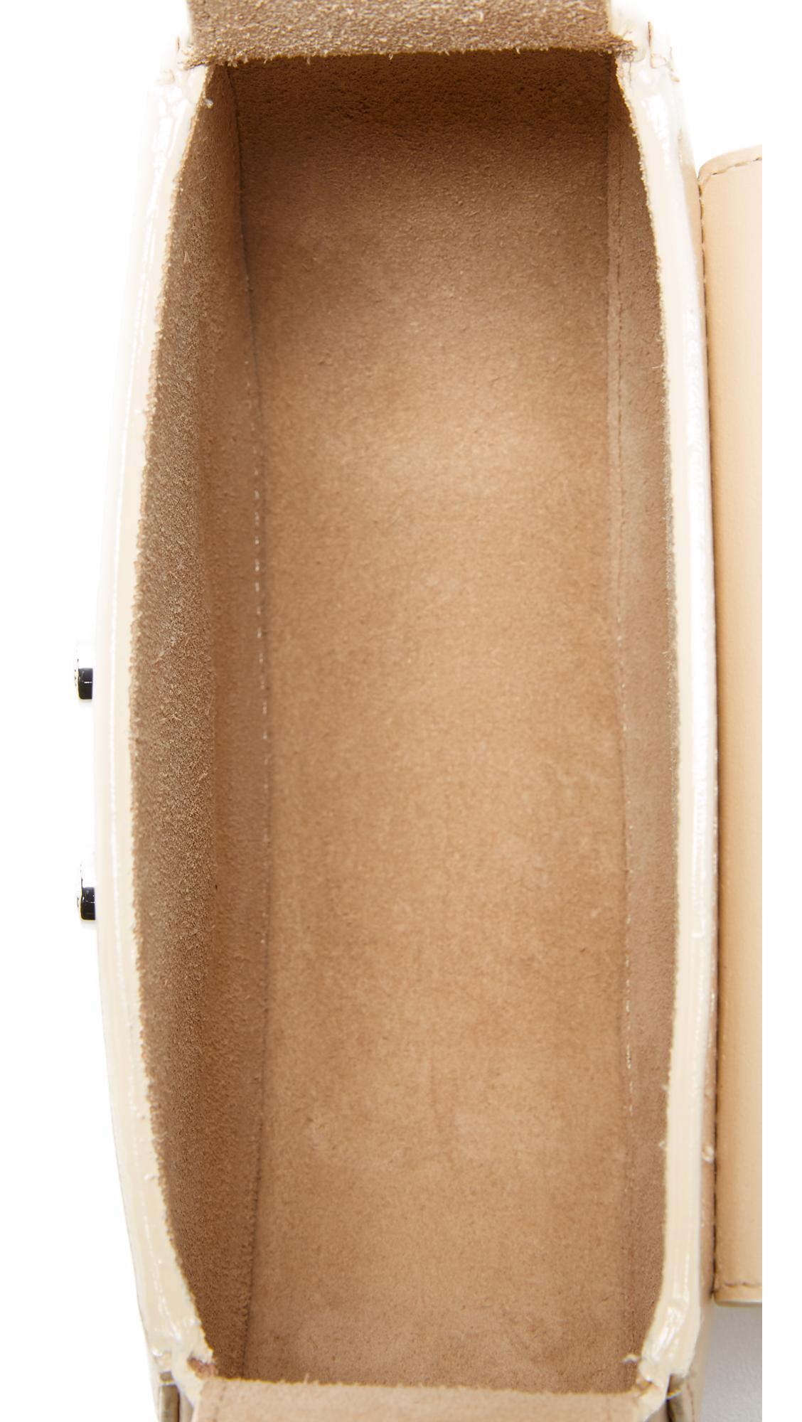 Salar Leather Mimi Cross Body Bag in Cream (Natural)