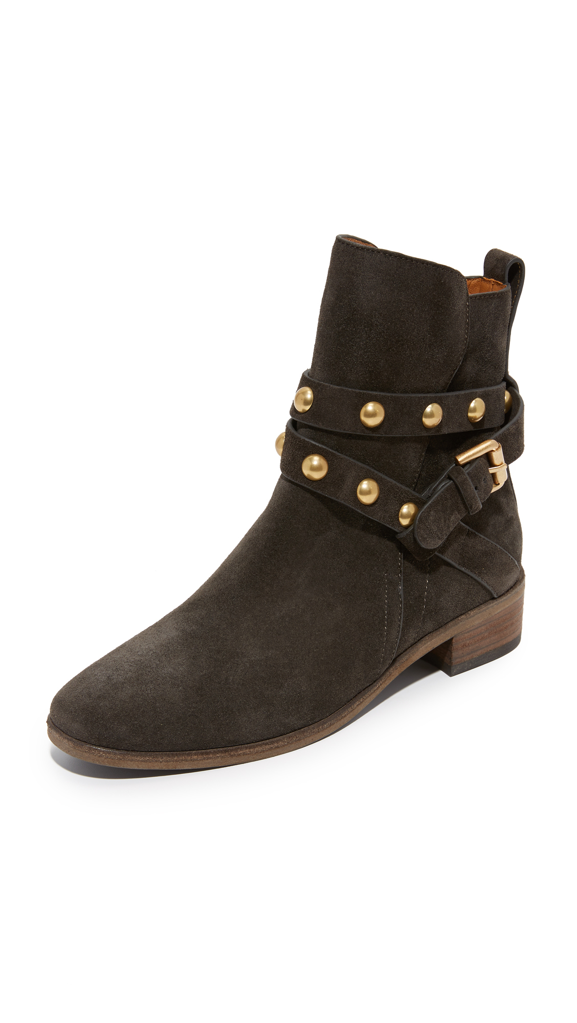 see by chlo janis suede ankle boots in brown save 51 lyst. Black Bedroom Furniture Sets. Home Design Ideas