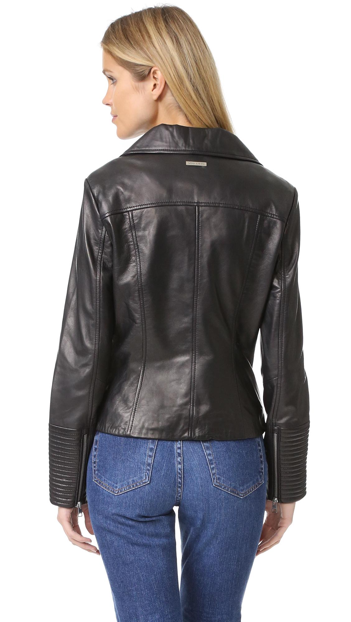 Lyst Soia Amp Kyo Maritza Leather Jacket In Black
