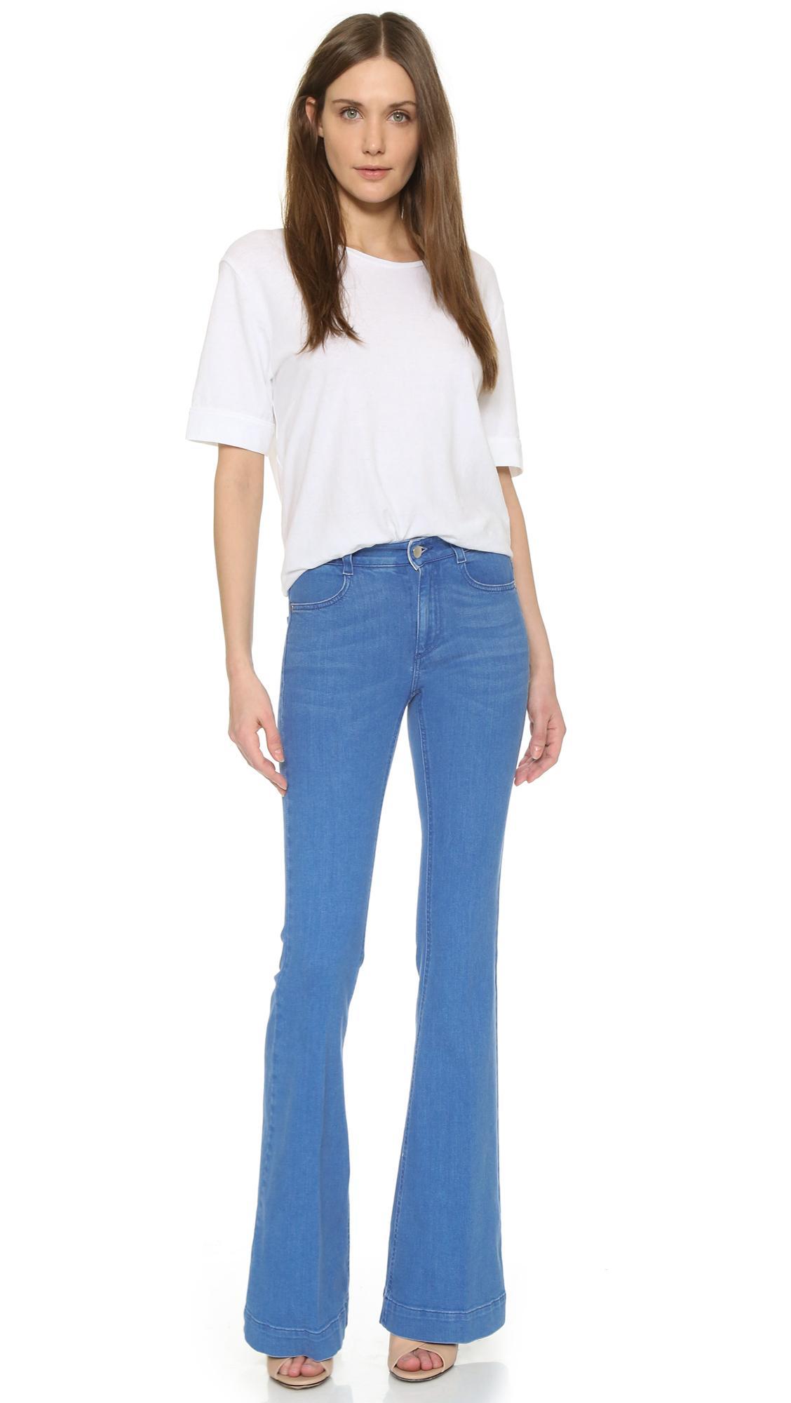 Stella McCartney Denim '70s Flare Jeans in Ultra Blue (Blue)