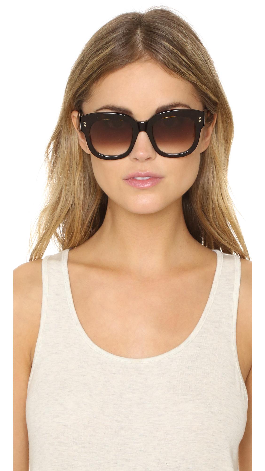 Maui Jim Warranty >> Lyst - Stella McCartney Square Sunglasses in Brown