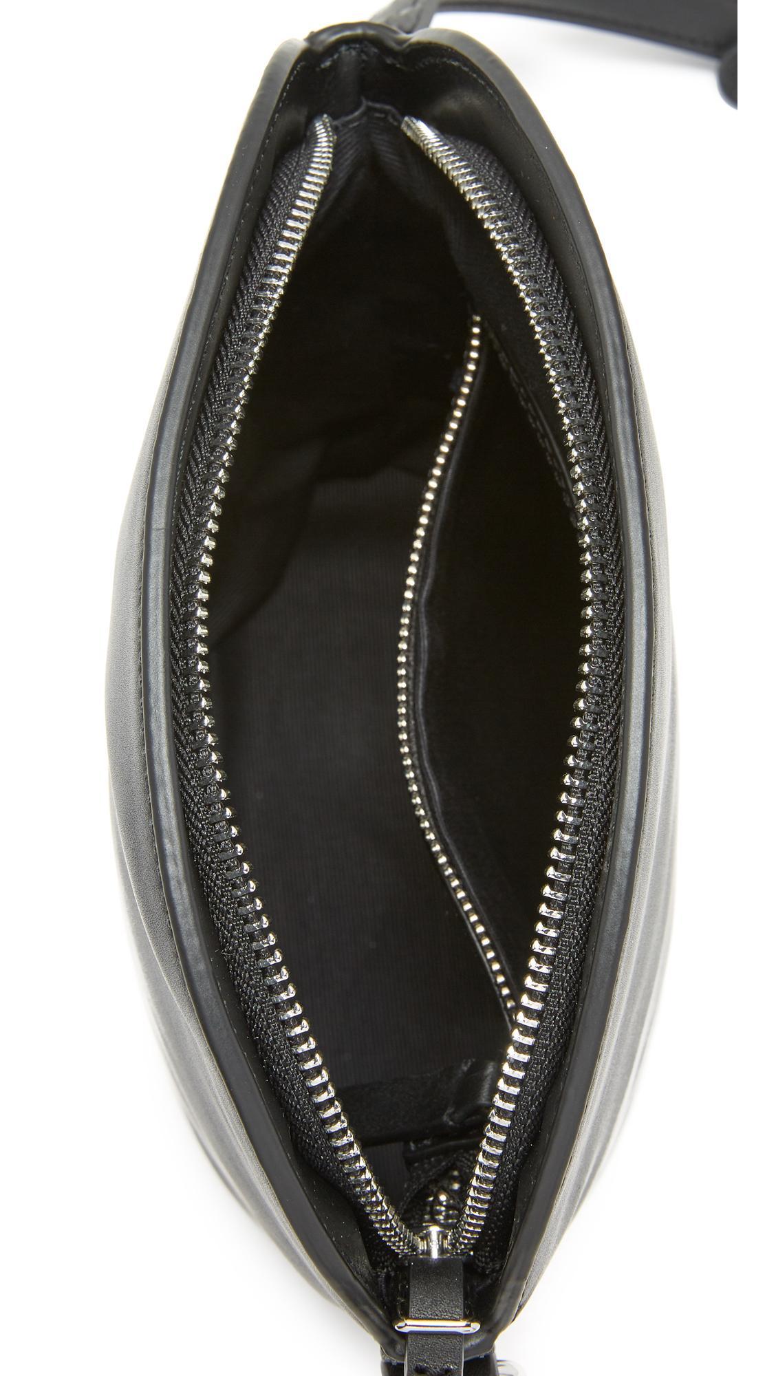 Steven Alan Leather Rhea Cross Body Bag in Black