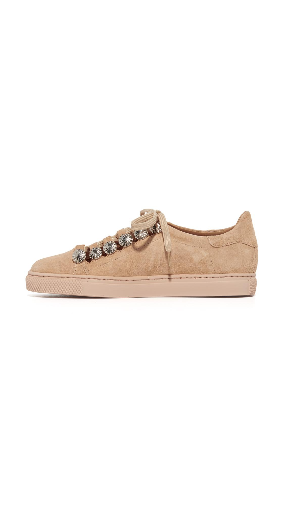 Toga Suede Embellished Sneakers