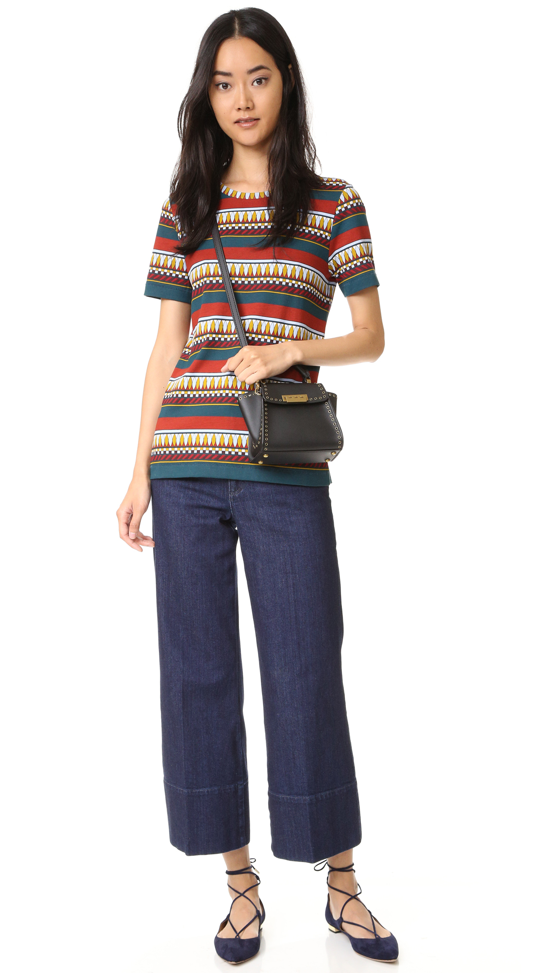 Tory burch libby tee lyst for Tory burch fashion island