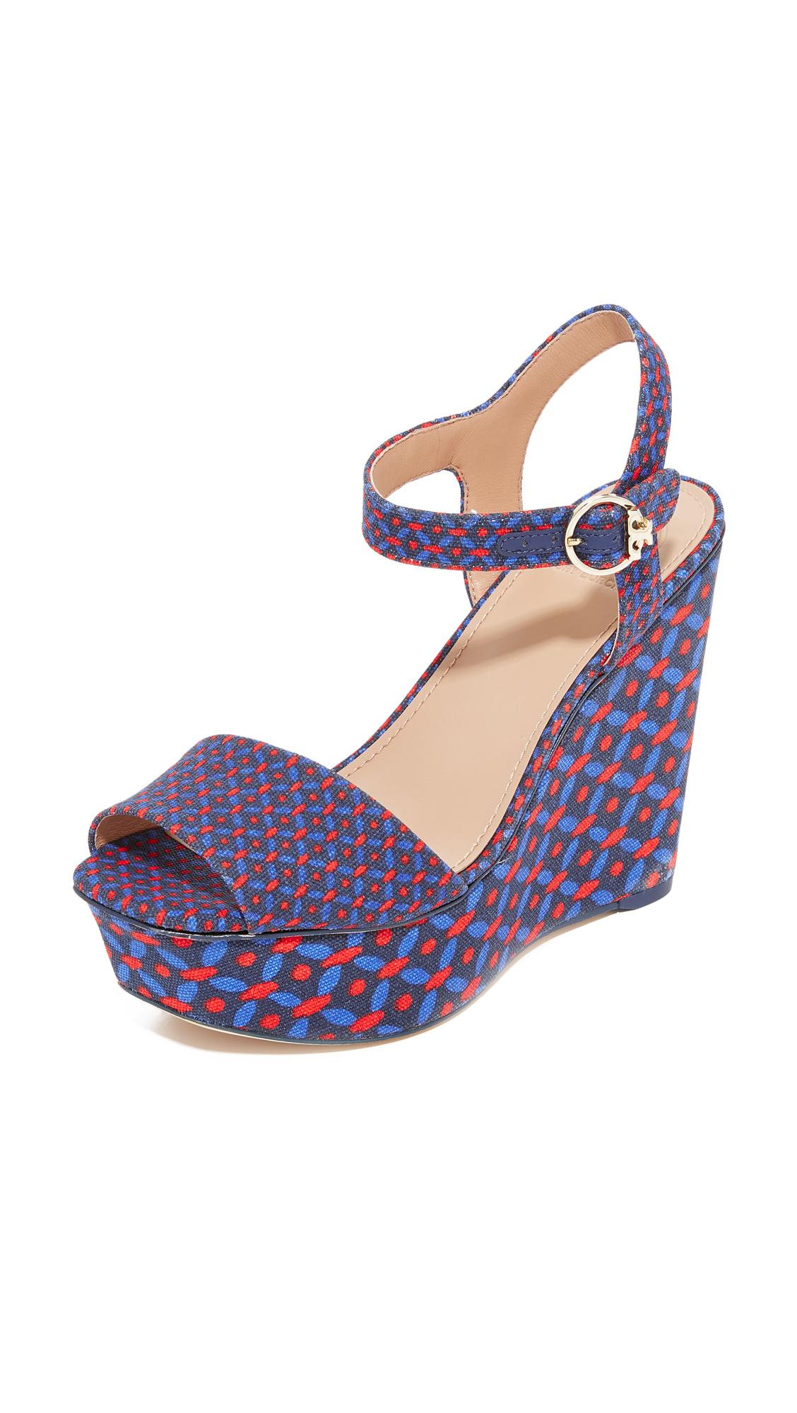 c2550a51c1ad4c Lyst - Tory Burch Haven Platform Sandals in Blue