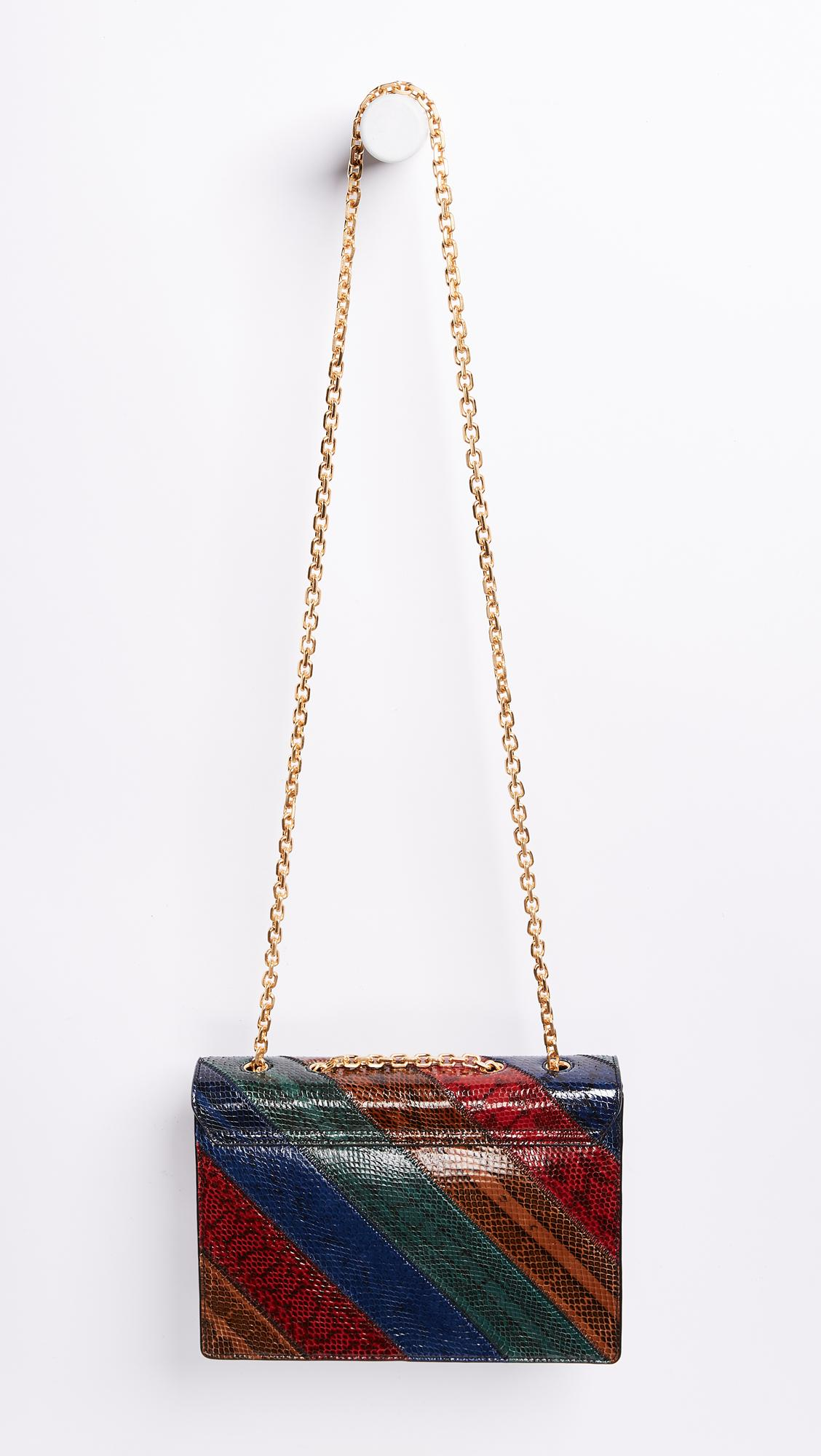779b4e6c8243 Lyst - Tory Burch Gemini Link Chain Snake Shoulder Bag