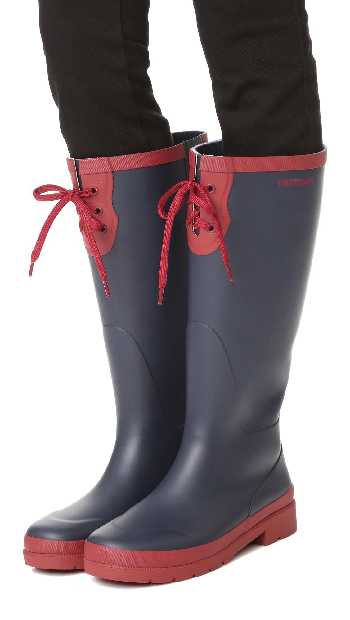 Tretorn Rubber Lacey Tall Rain Boots Lyst