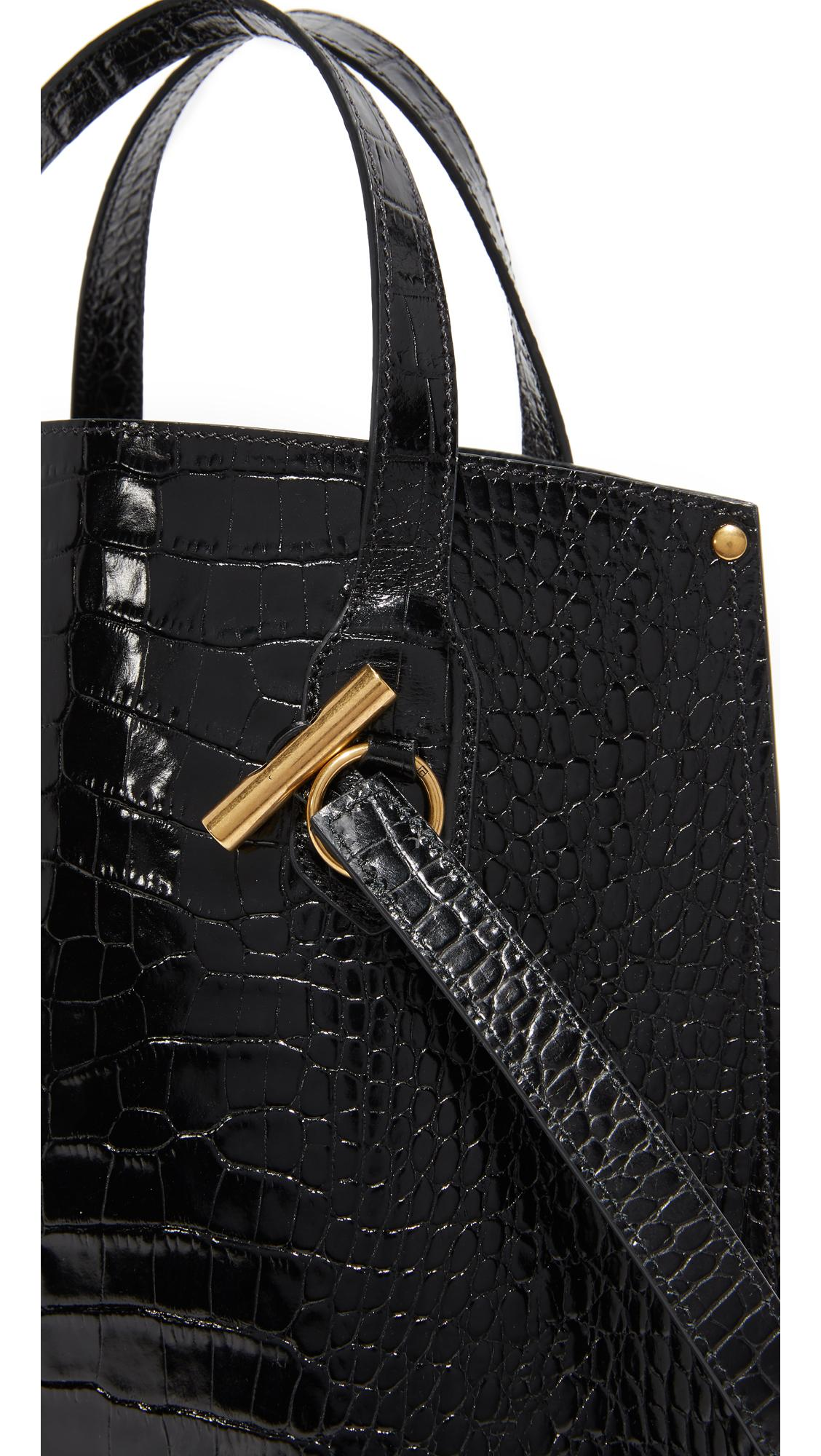 Trademark Leather Micro Aubock Mini Tote in Black