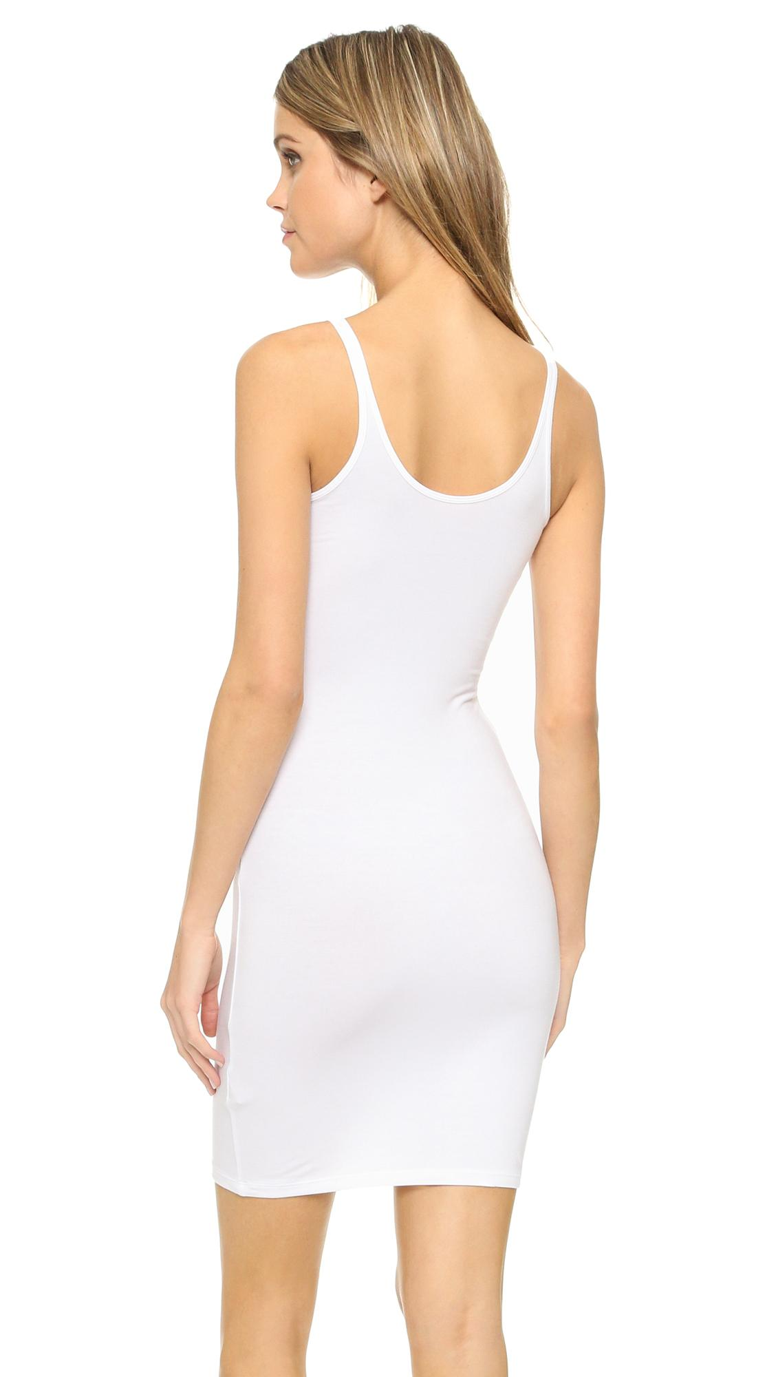 T By Alexander Wang Synthetic Tank Dress In White Lyst