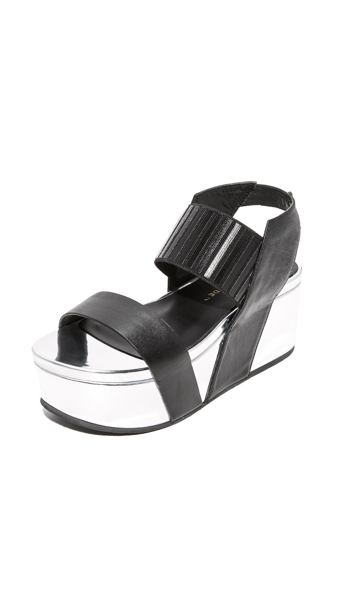 Black UNITED NUDE Sandals LOOP HI | Omoda