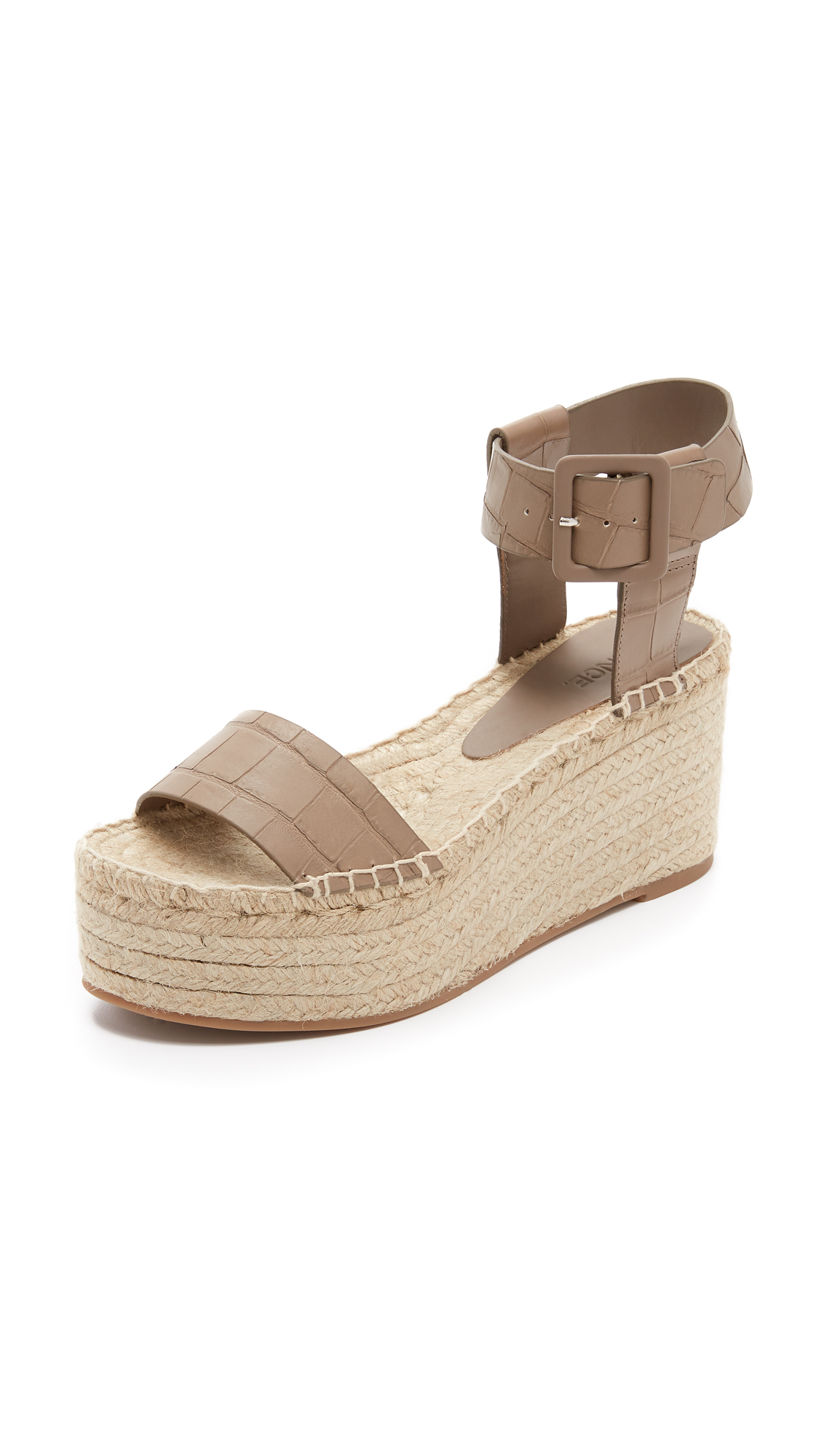 a5769eb32e47 Lyst - Vince Abby Espadrille Wedges in Natural