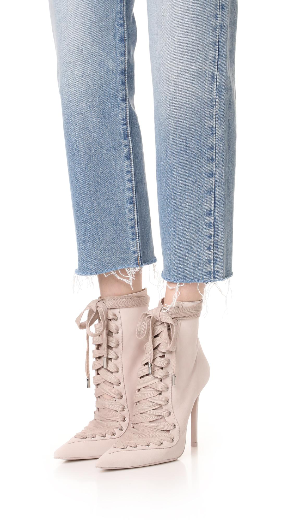 Zimmermann Suede Lace Up Ankle Booties