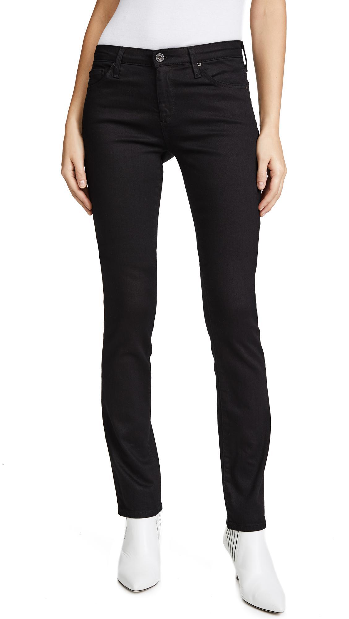 262f6f35df9c AG Jeans - Black Harper Straight Jean - Lyst. View fullscreen