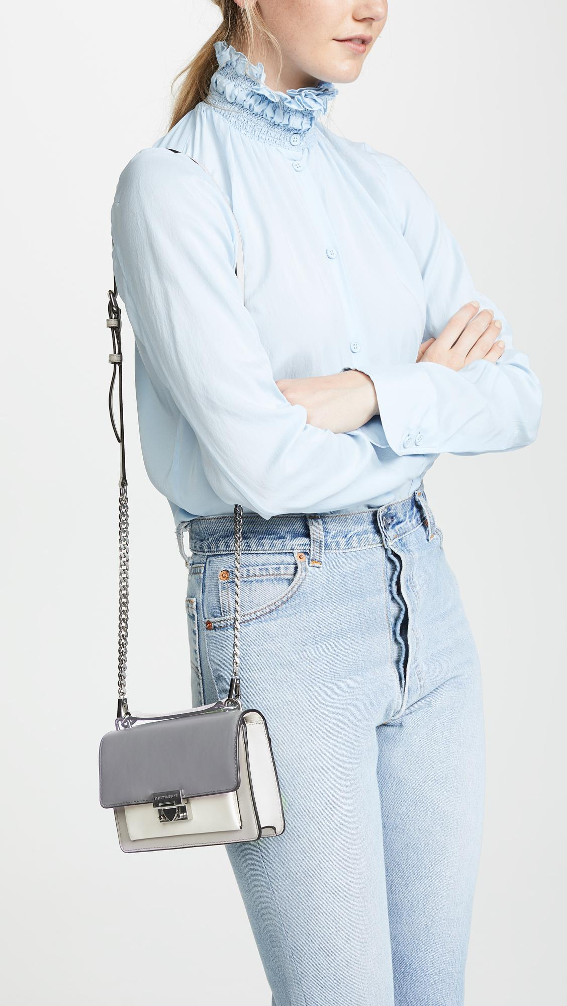 5e7967d92463 Lyst - Rebecca Minkoff Christy Mini Shoulder Bag in Gray