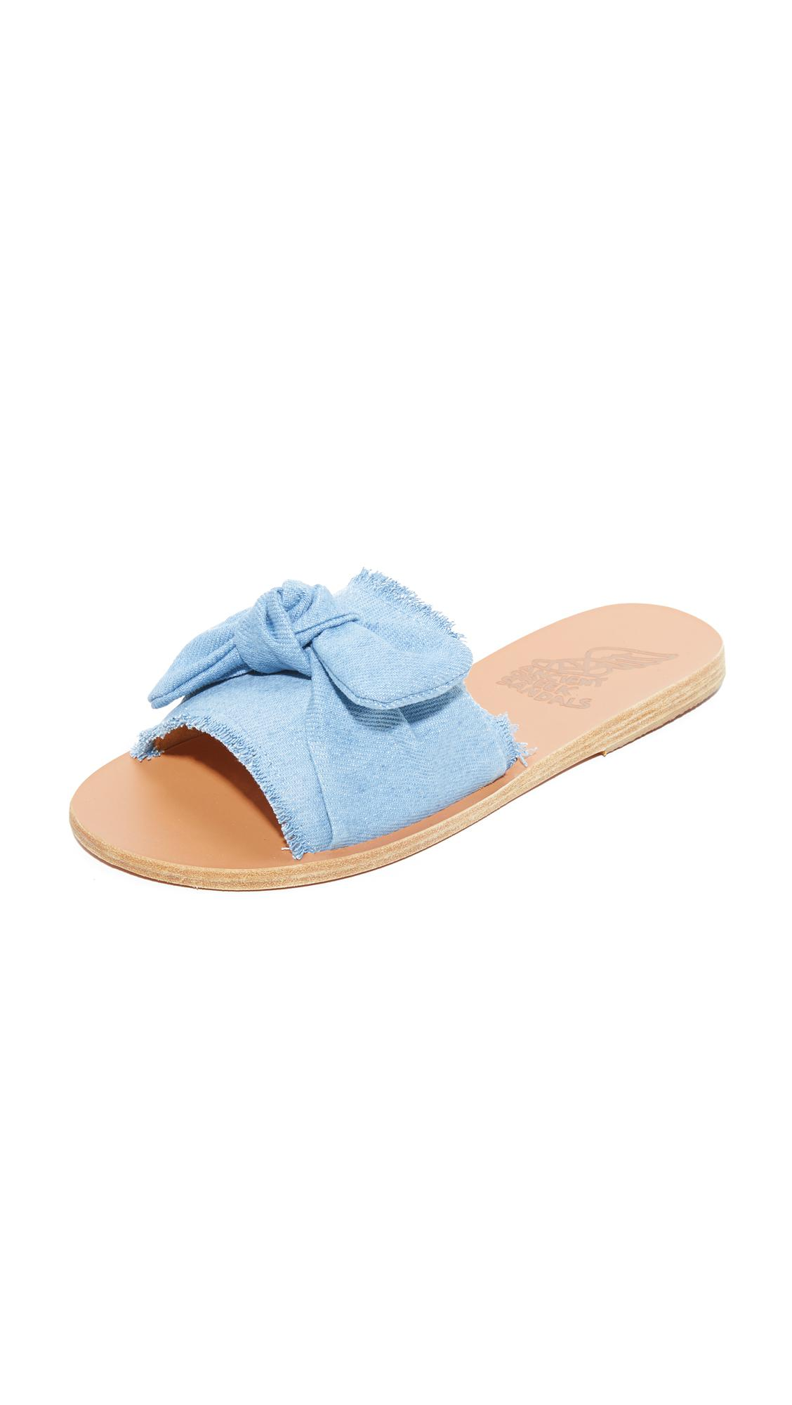 Ancient Greek Sandals Taygete Bow striped sandals Discount Purchase iZQzAuir